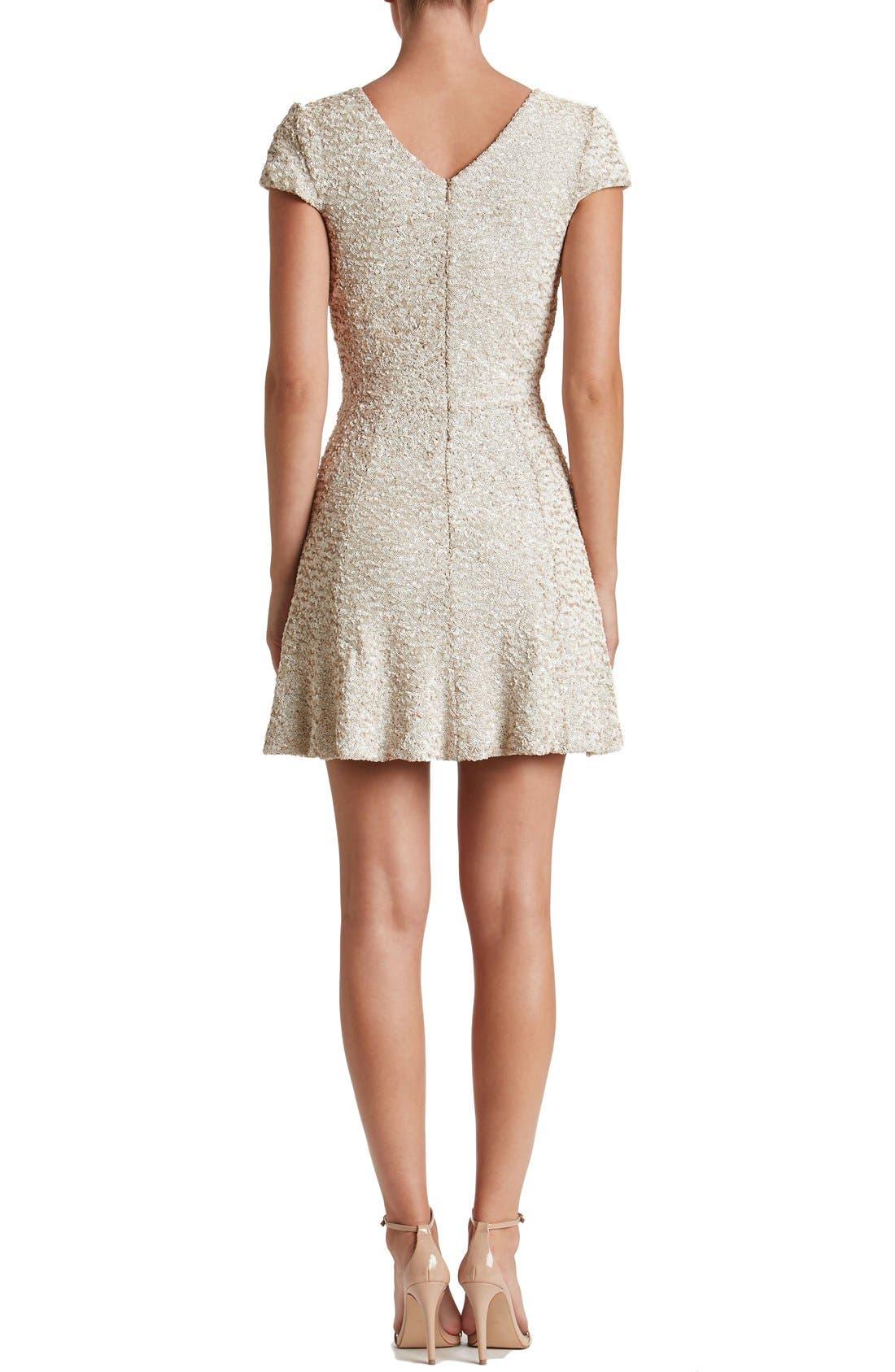 Alternate Image 2  - Dress the Population Georgina Sequin Fit & Flare Dress