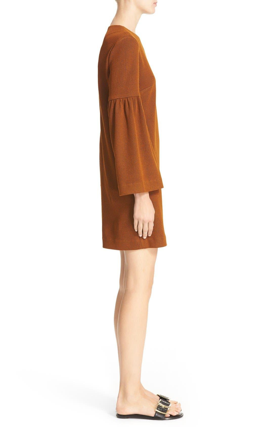 Alternate Image 3  - Tibi Stripe Texture Knit Bell Sleeve Dress