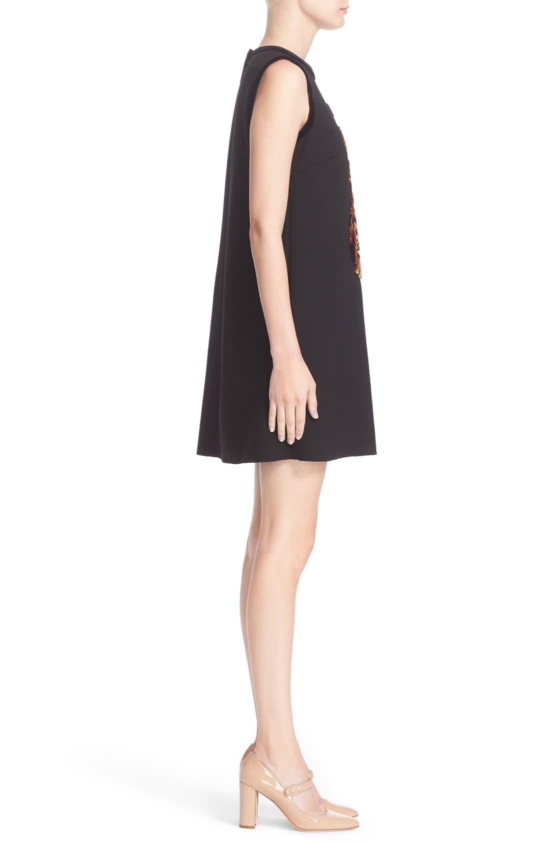 Alternate Image 5  - Dolce&Gabbana Cat Appliqué Wool Blend Crepe Dress