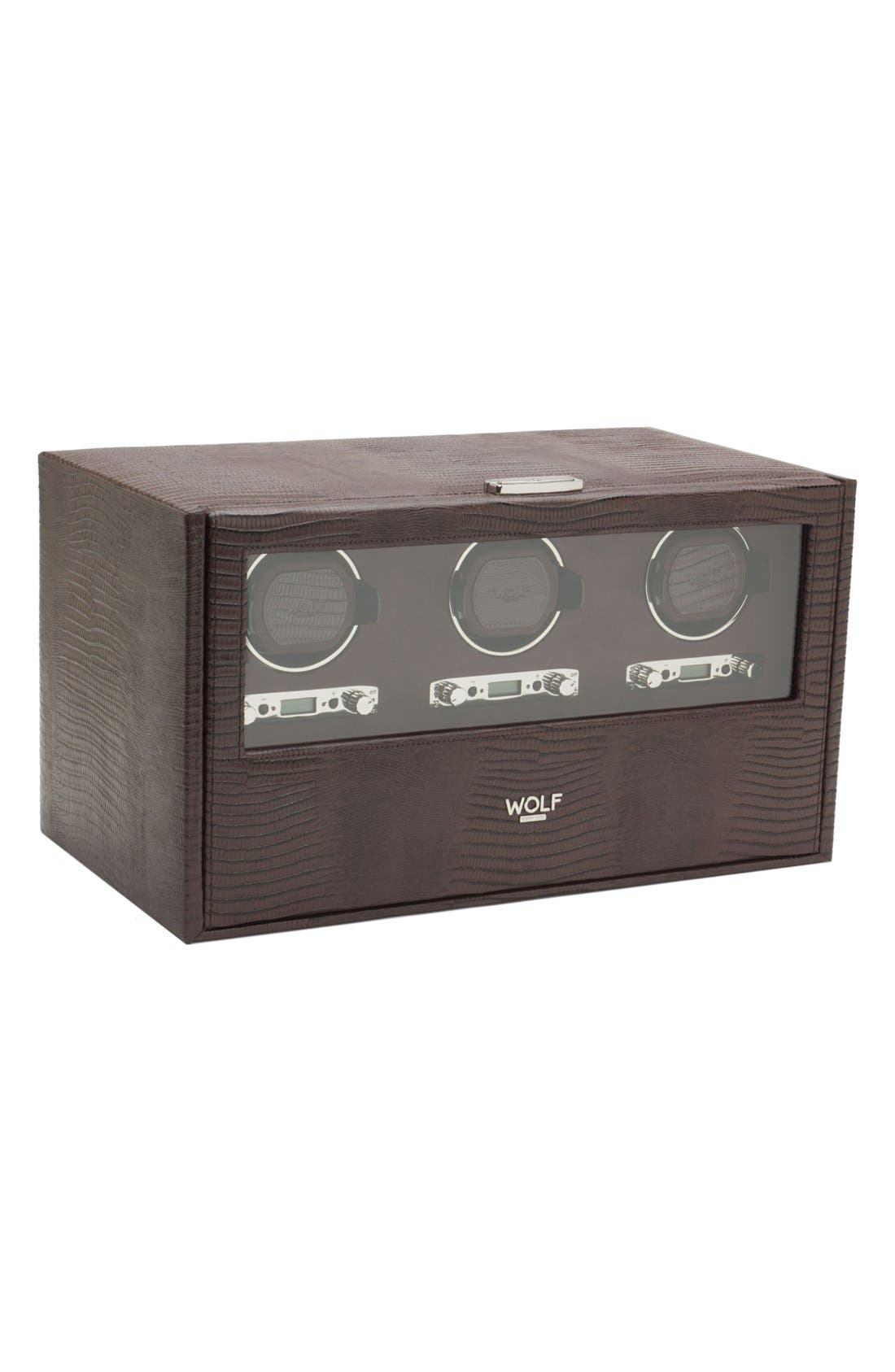 Wolf Blake Triple Watch Winder & Case