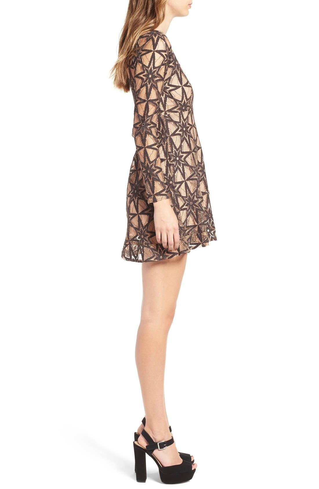 Alternate Image 3  - For Love & Lemons Metz Party Dress