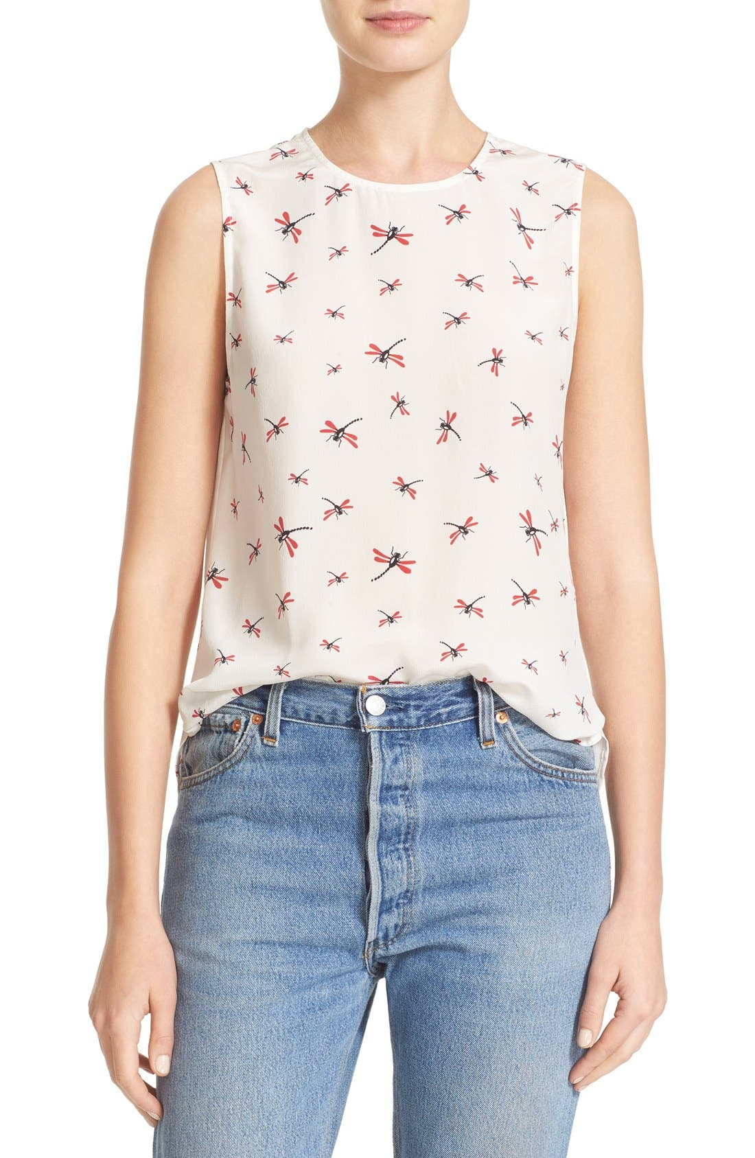 Main Image - Equipment Lyle Dragonfly Print Silk Top