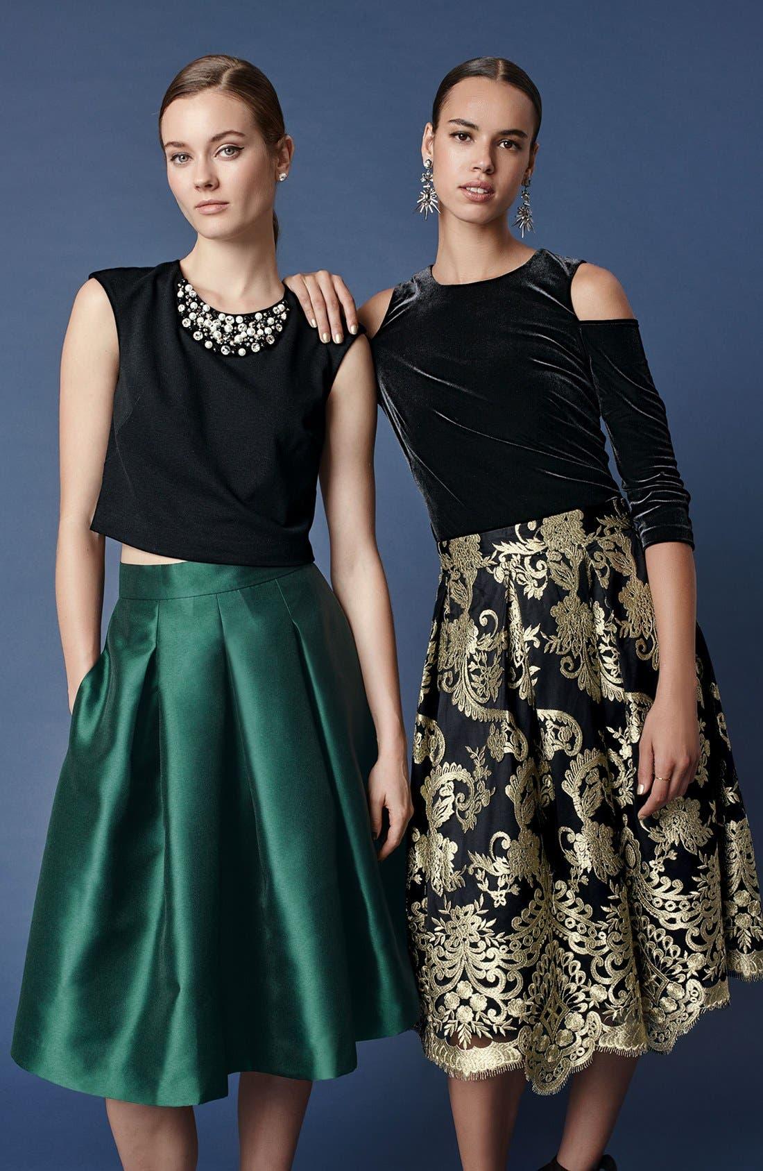 Alternate Image 2  - Eliza J Release Pleat Full Skirt