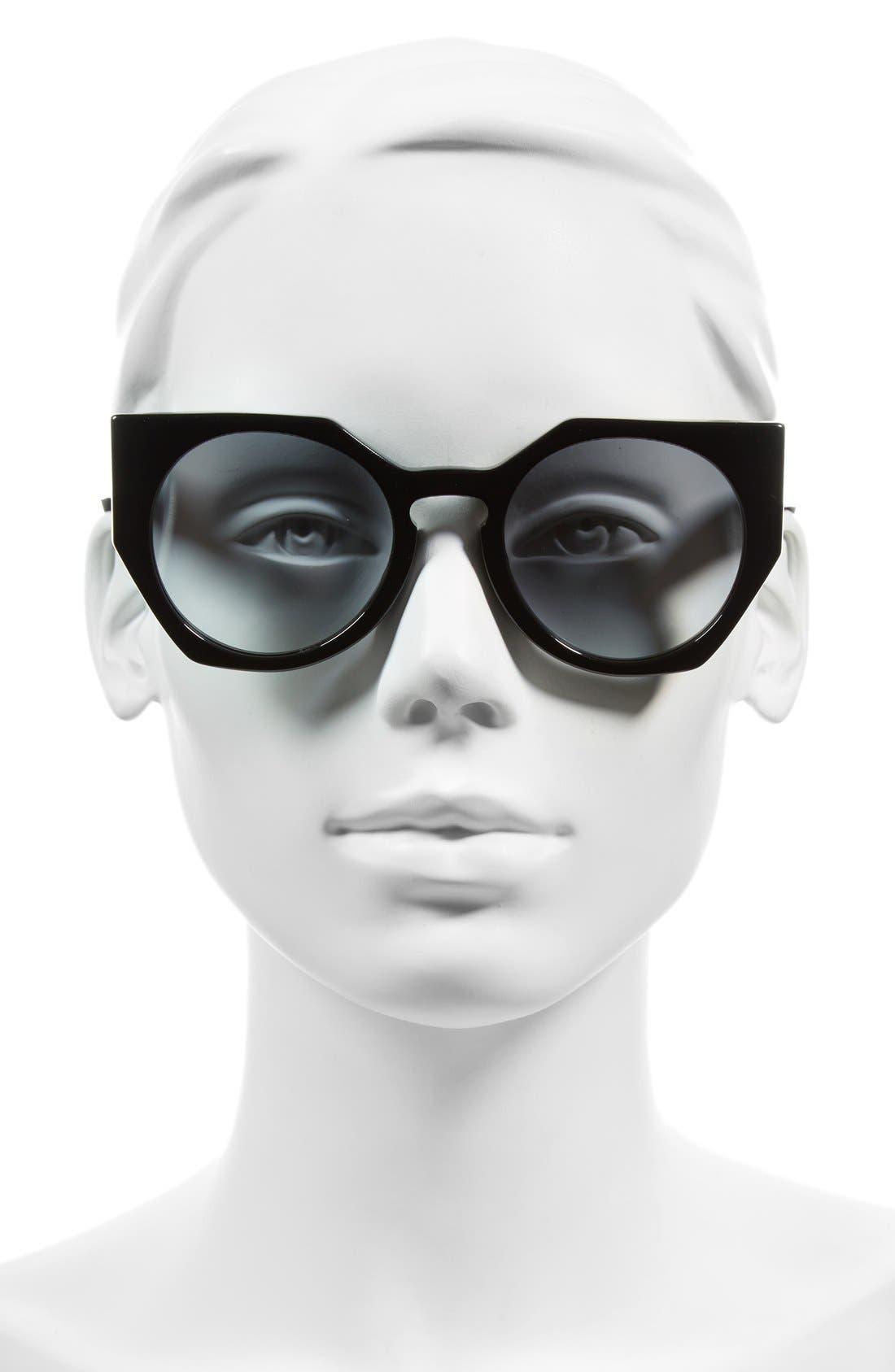Alternate Image 2  - Fendi 51mm Retro Sunglasses