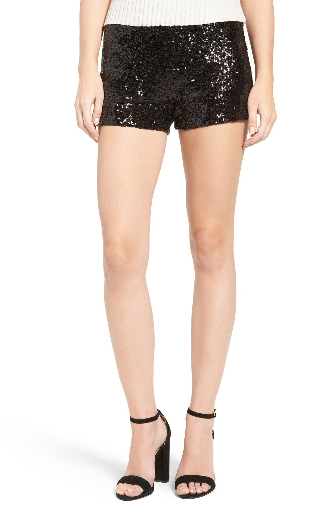 Alternate Image 1 Selected - Soprano Sequin Shorts