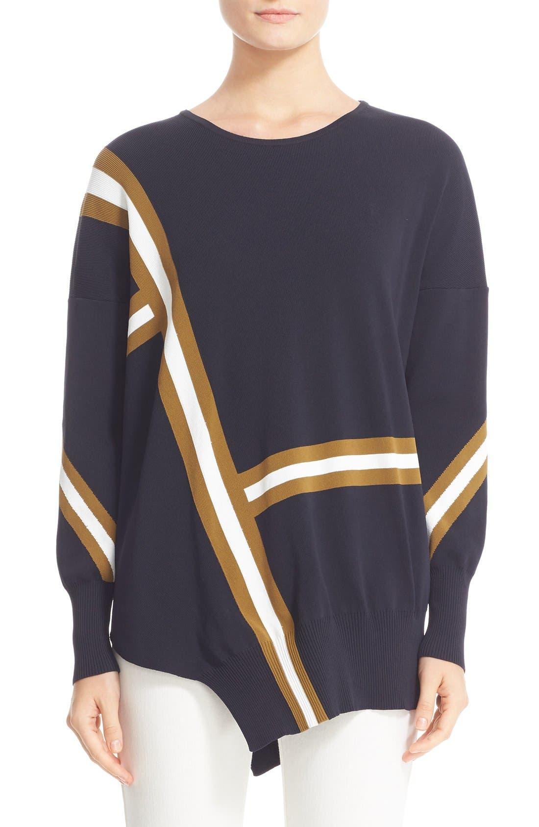 BELSTAFF Soraya Asymmetrical Intarsia Sweater