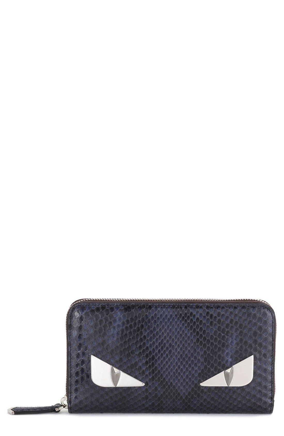 Fendi Genuine Python Zip Around Wallet