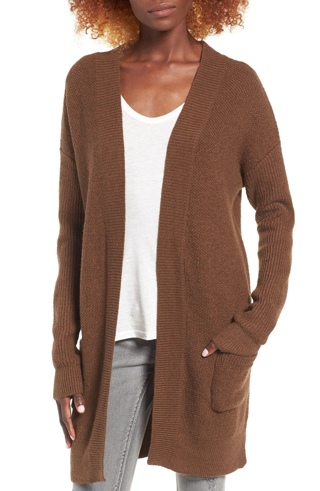 Main Image - BP. Tuck Stitch Cardigan