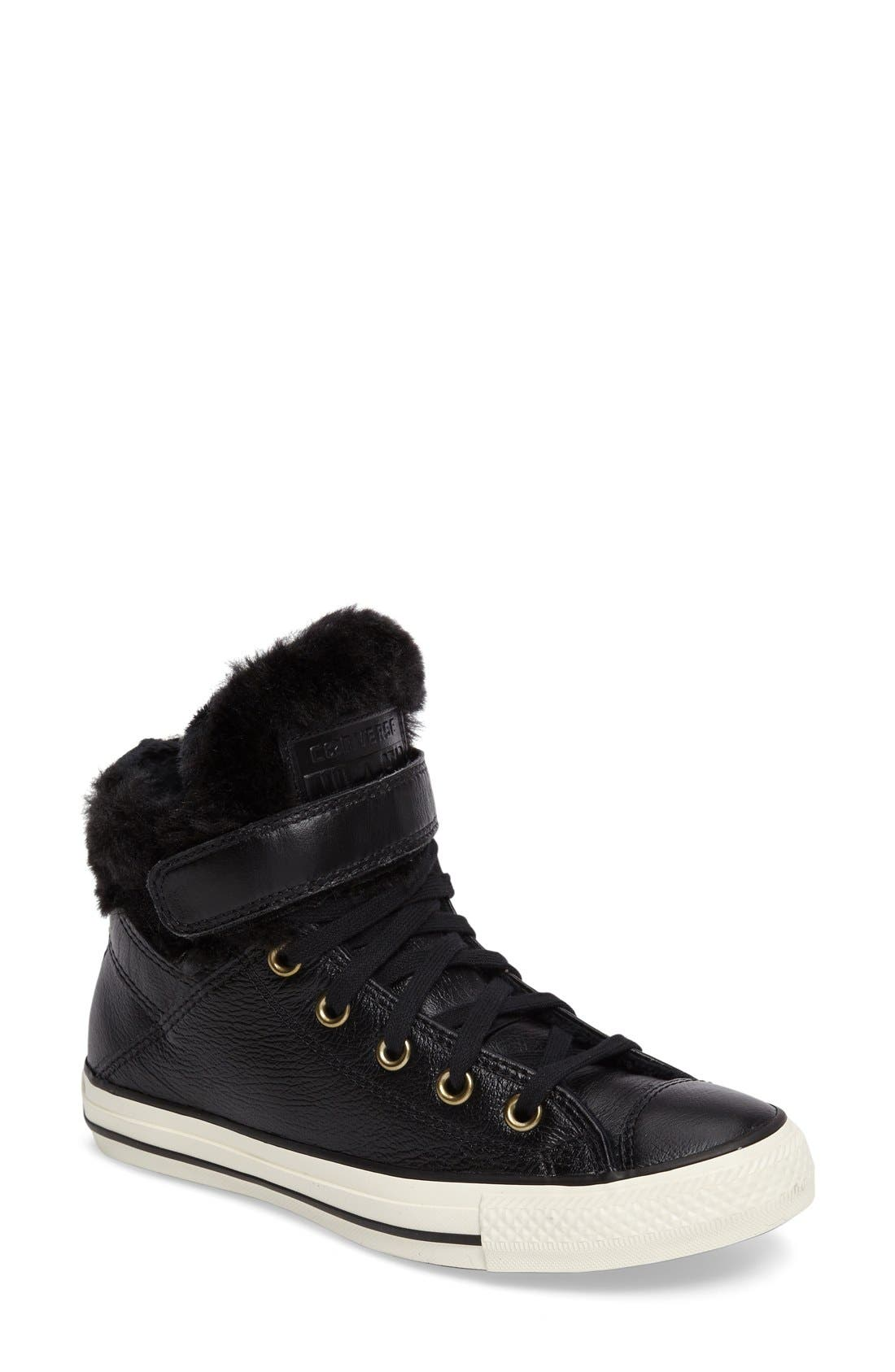 Alternate Image 1 Selected - Converse Chuck Taylor® All Star® Faux Fur High Top Sneaker (Women)