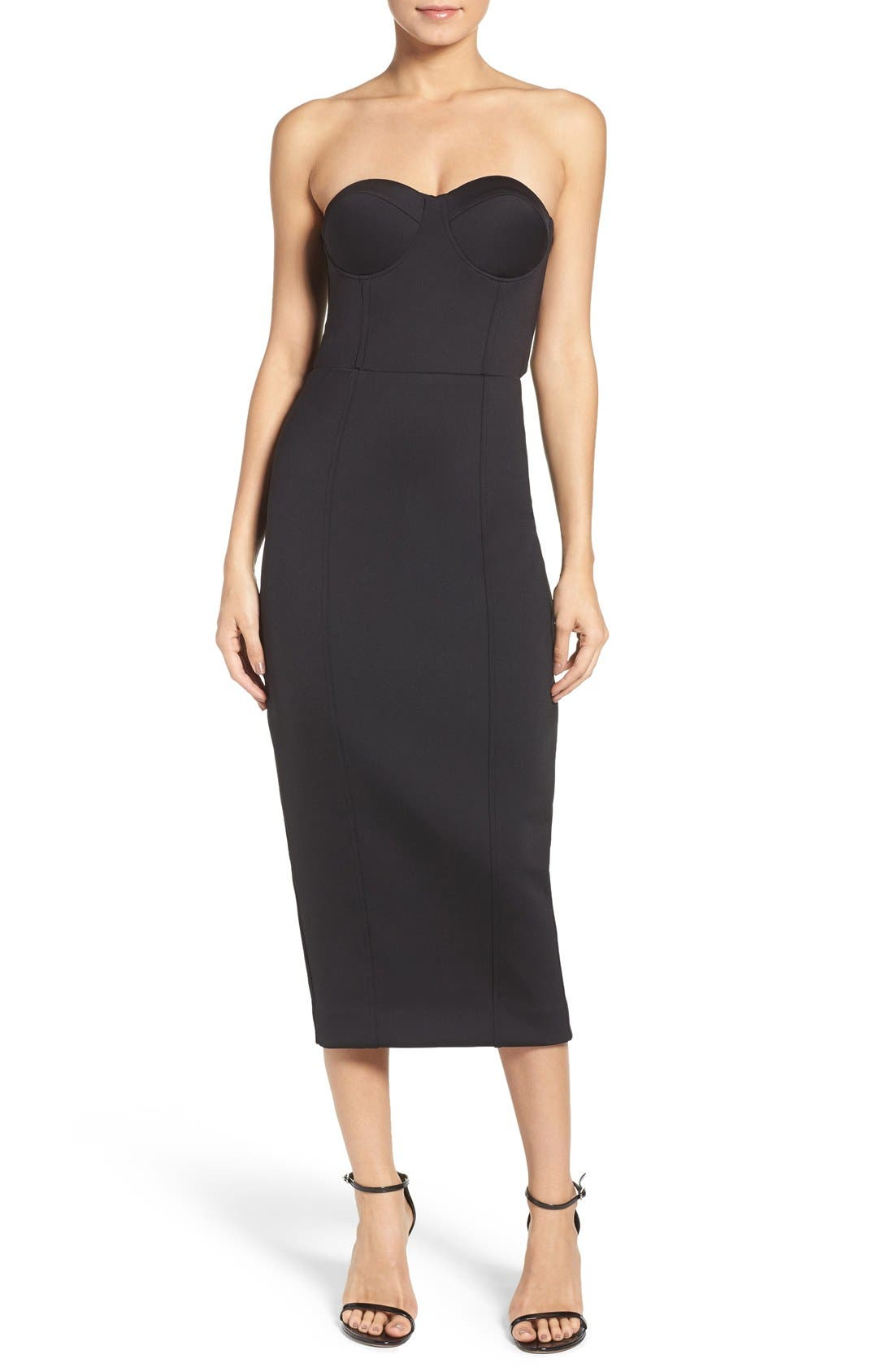 Main Image - Misha Collection Gabrielle Midi Dress (Nordstrom Exclusive)