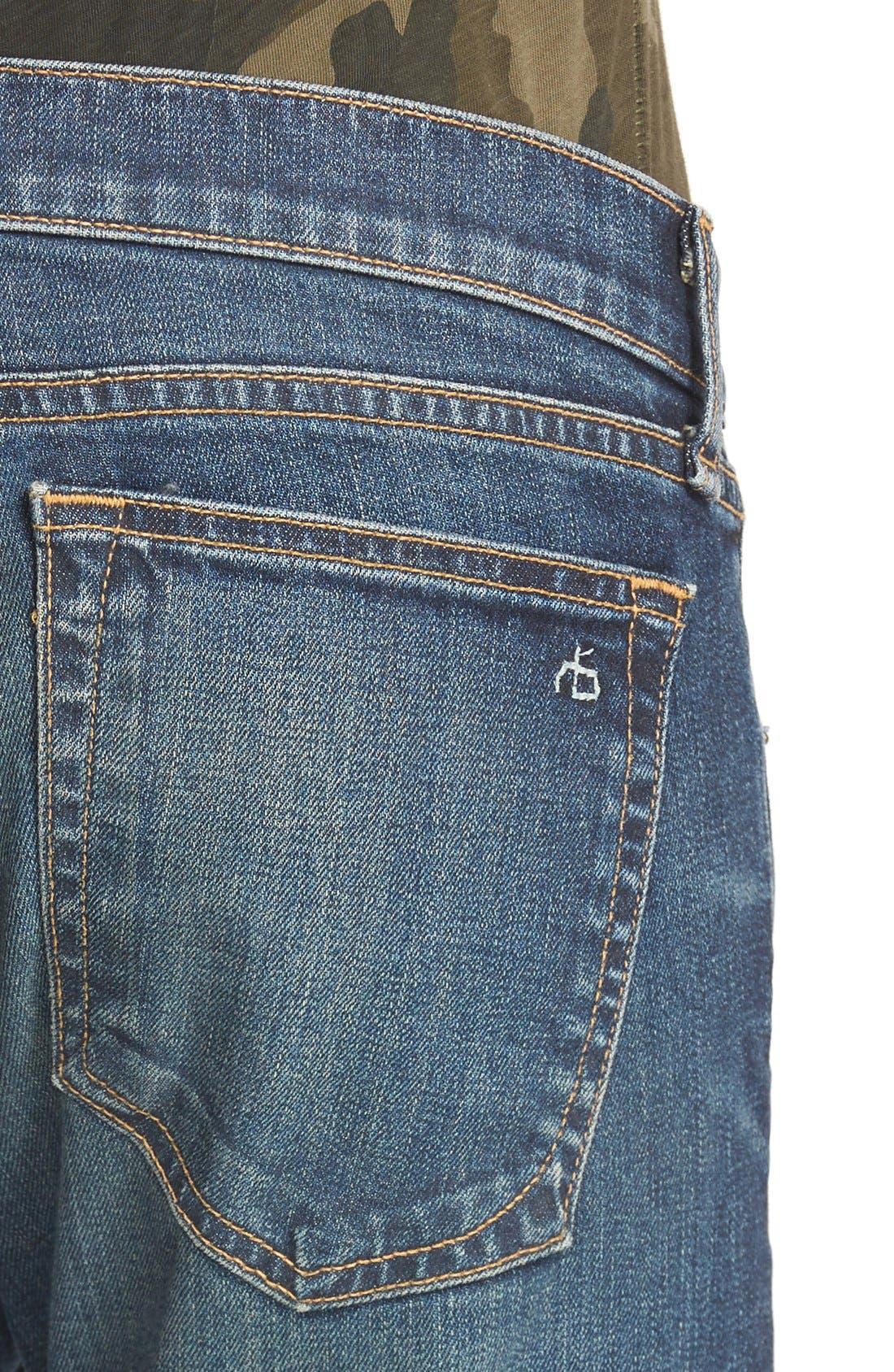 Alternate Image 4  - rag & bone/JEAN The Dre Slim Boyfriend Jeans (Mission)