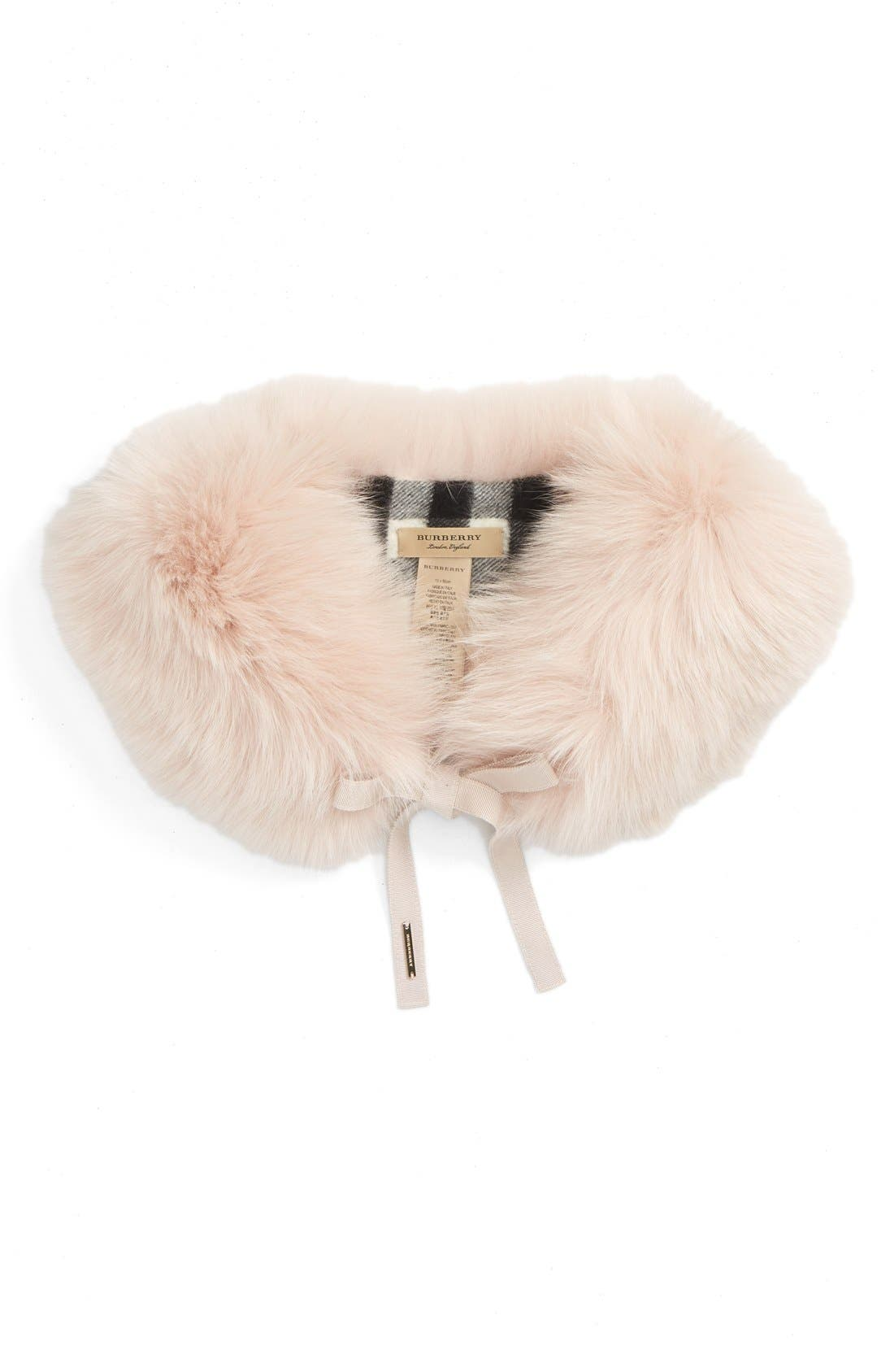 Alternate Image 2  - Burberry Genuine Fox Fur Collar