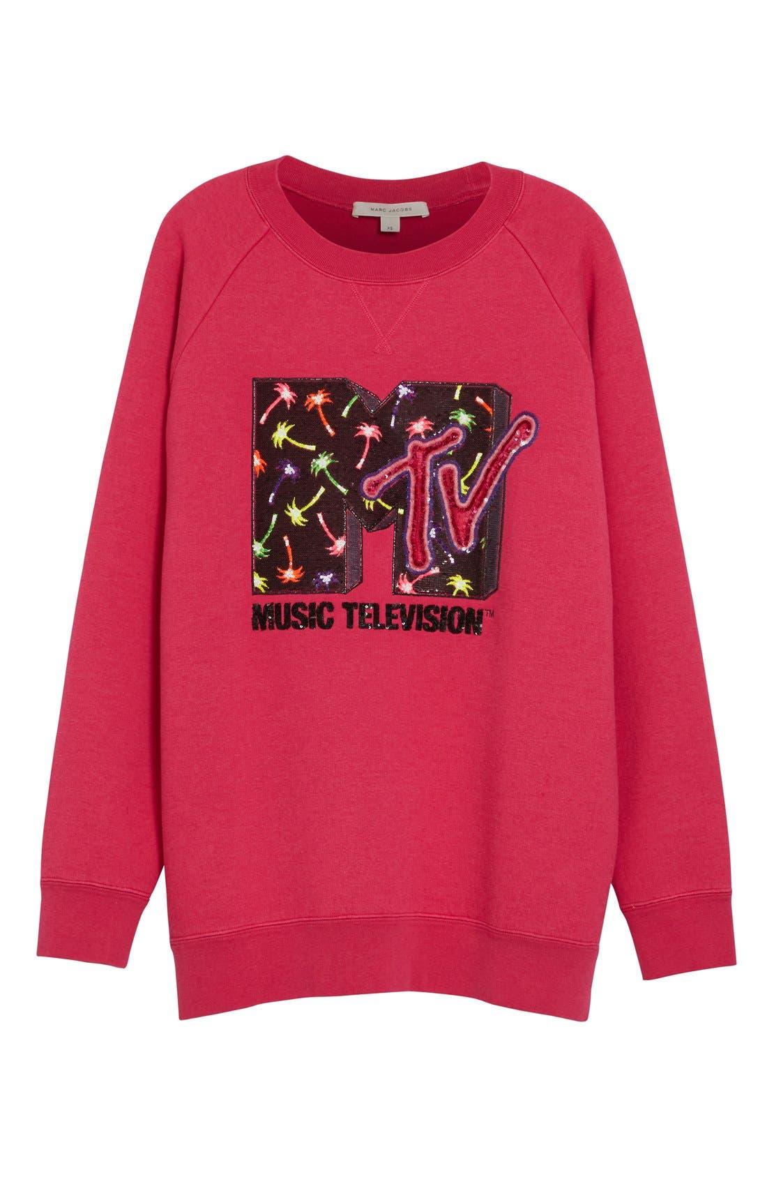 Alternate Image 4  - MARC JACOBS x MTV Logo Sweatshirt