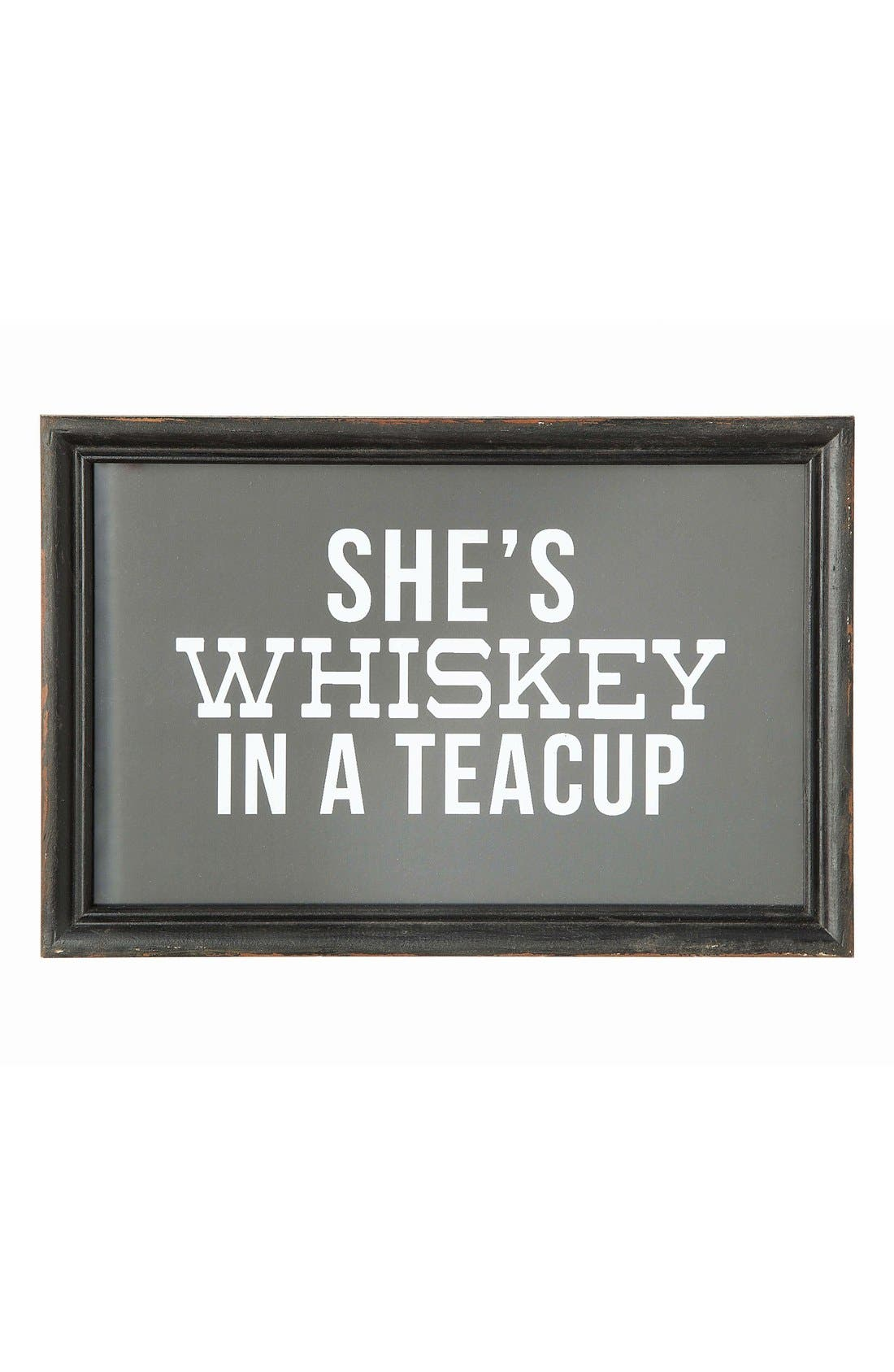 Main Image - Creative Co-Op Whiskey in a Tea Cup Wall Art