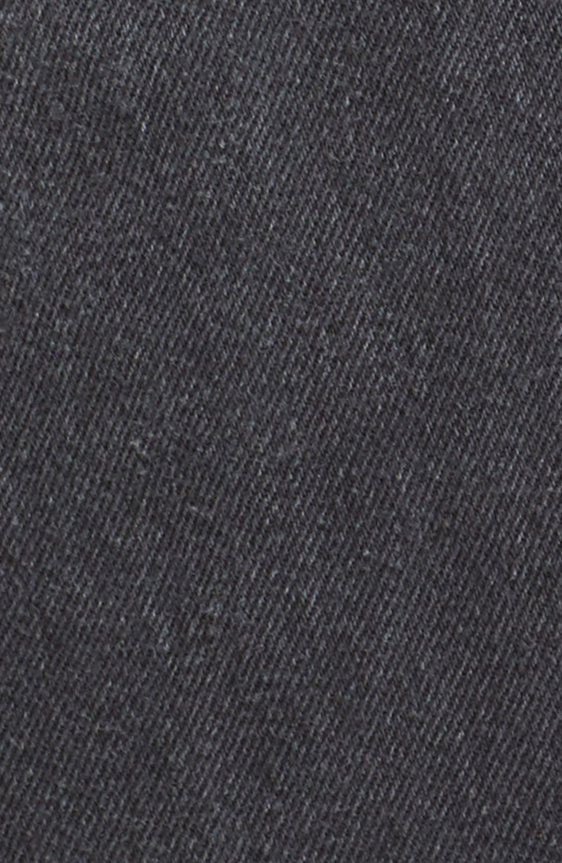 Alternate Image 5  - Re/Done High Waist Repurposed Denim Miniskirt