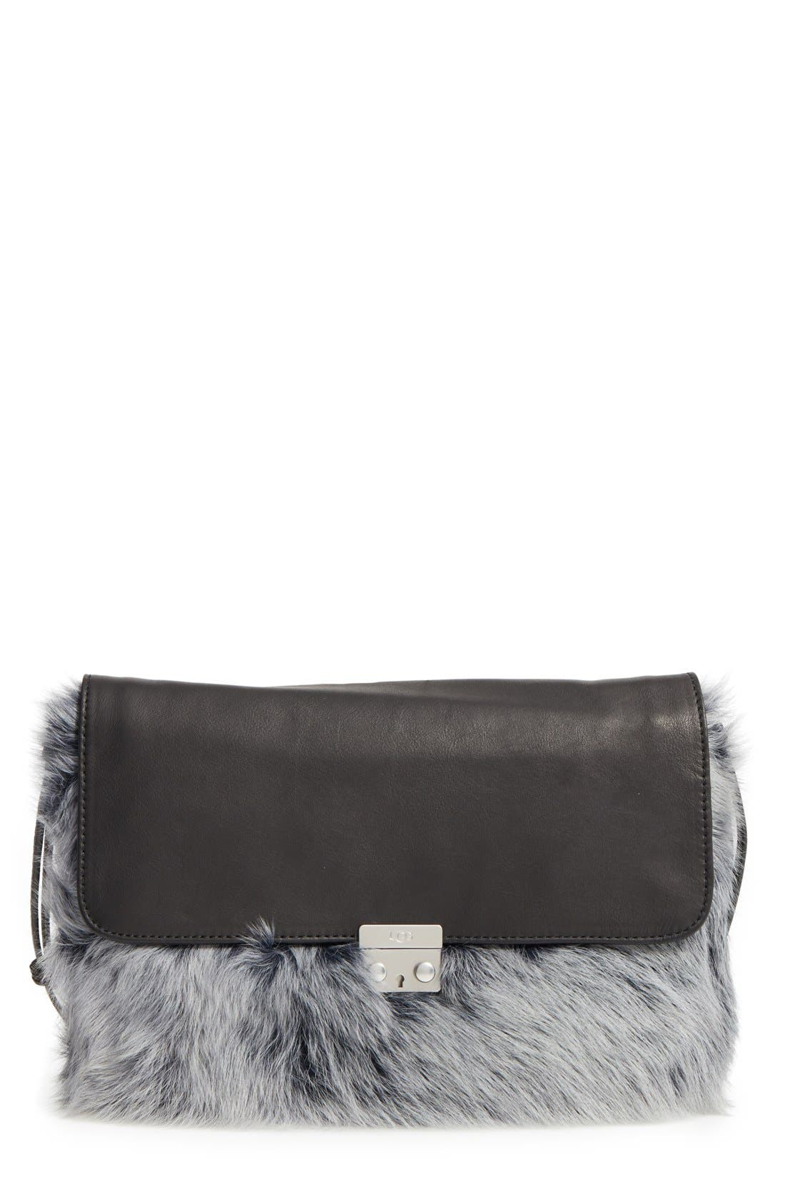 Alternate Image 1 Selected - UGG® Vivienne Genuine Shearling Convertible Clutch