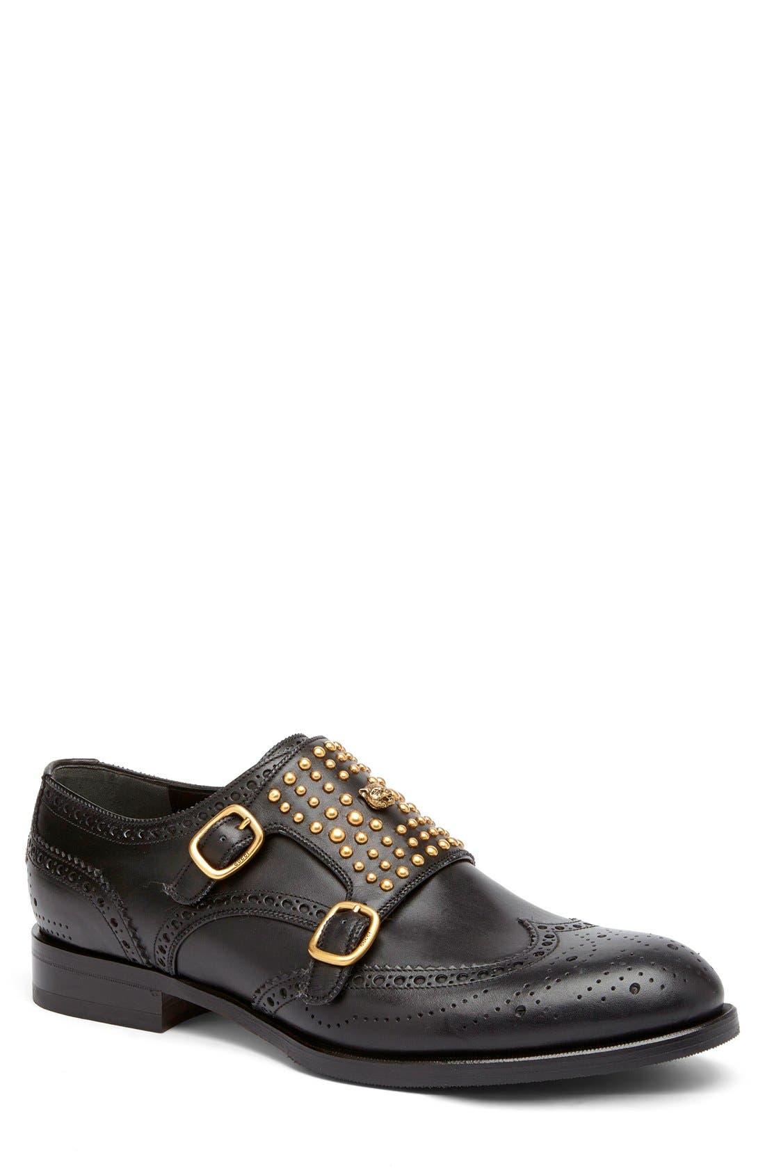 Gucci Queercore Wingtip Monk Strap Shoe (Men)