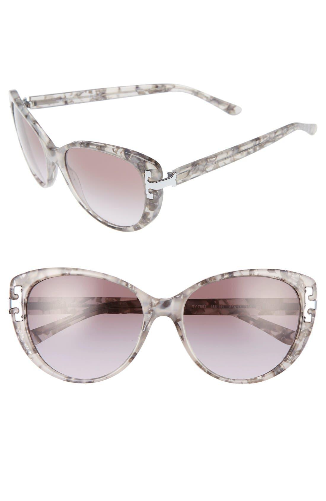 Alternate Image 1 Selected - Tory Burch 56mm Cat Eye Sunglasses