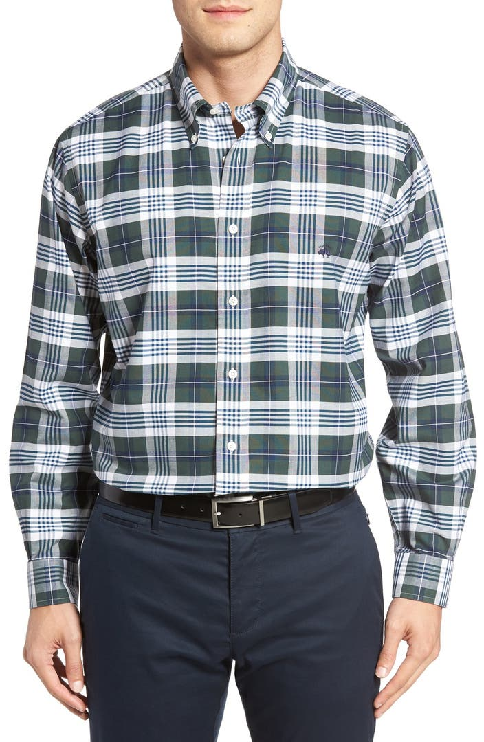 Brooks brothers no iron oxford check sport shirt nordstrom for Brooks brothers non iron shirt review
