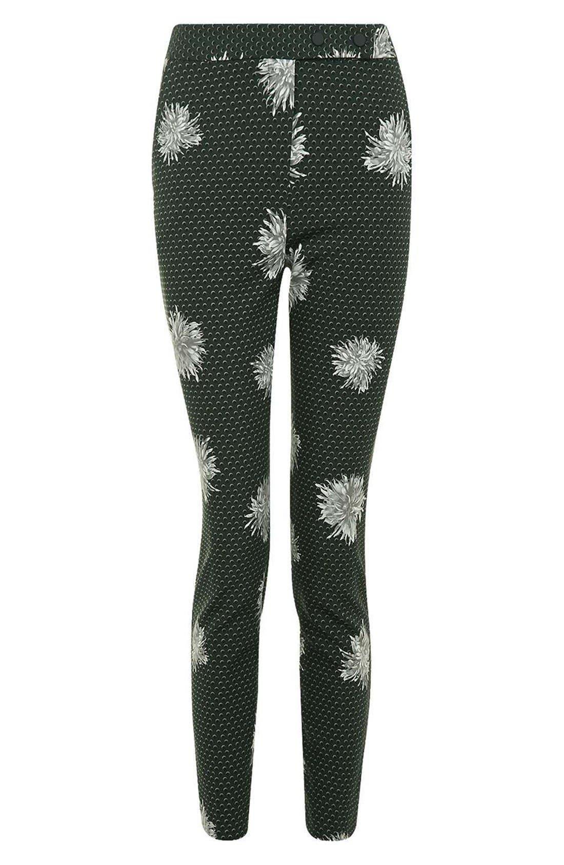 Alternate Image 4  - Topshop Floral Spot Pants