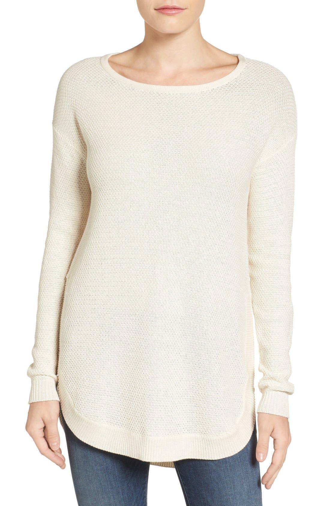 Alternate Image 1 Selected - Caslon® Texture Knit Tunic (Regular & Petite)
