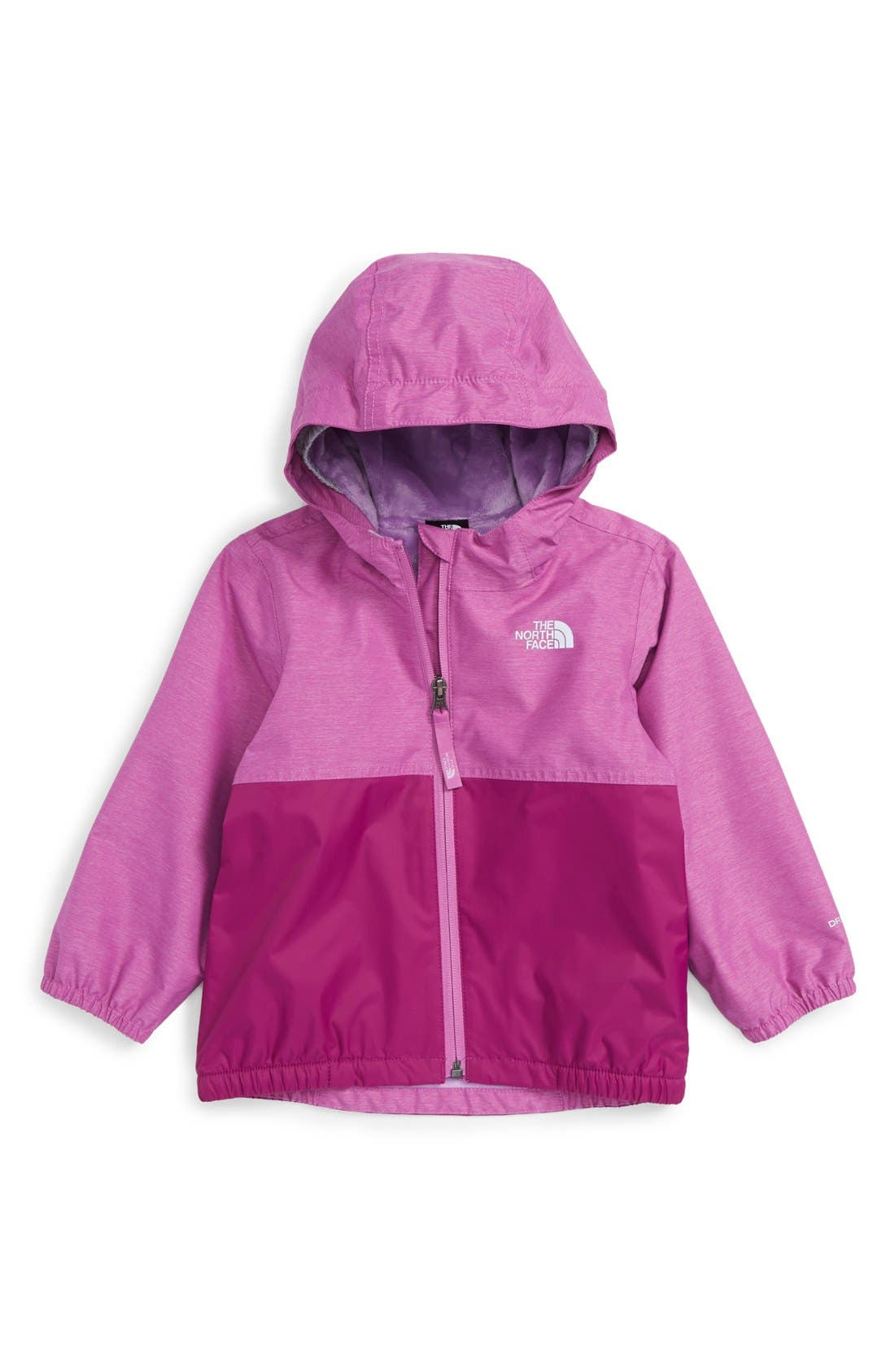 Main Image - The North Face 'Warm Storm' Hooded Waterproof Jacket (Baby Girls)