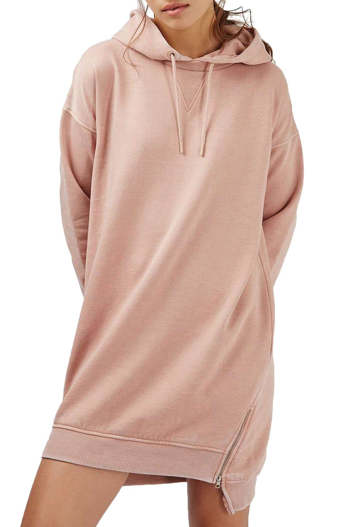 Main Image - Topshop Hooded Sweatshirt Dress