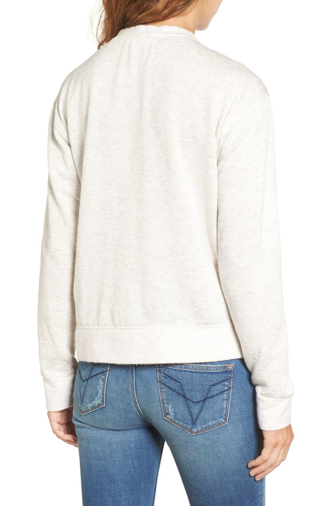 Alternate Image 3  - Socialite Lace-Up Sweatshirt