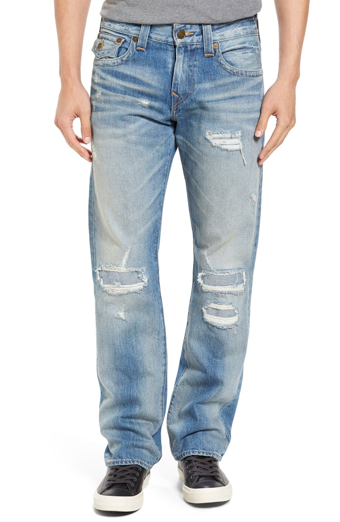 True Religion Brand Jeans Ricky Relaxed Fit Jeans (DLKM Worn Desert Well)