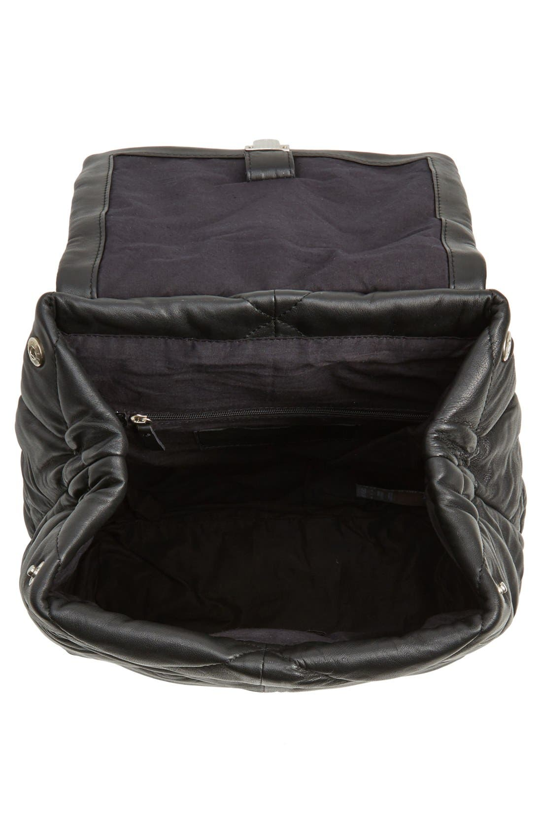 Alternate Image 4  - Topshop Bryan Puffer Quilted Leather Backpack