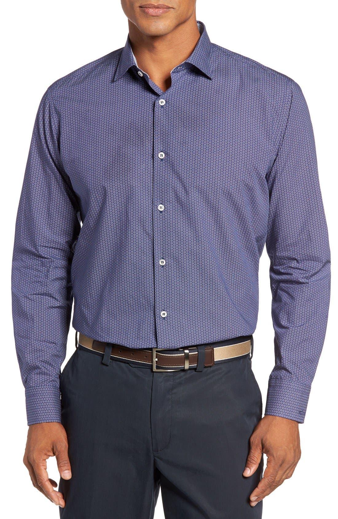 PAUL & SHARK Regular Fit Print Sport Shirt
