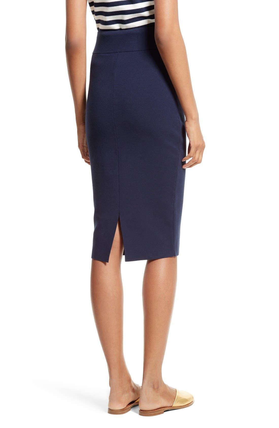 Alternate Image 3  - Milly Stretch Knit Pencil Skirt