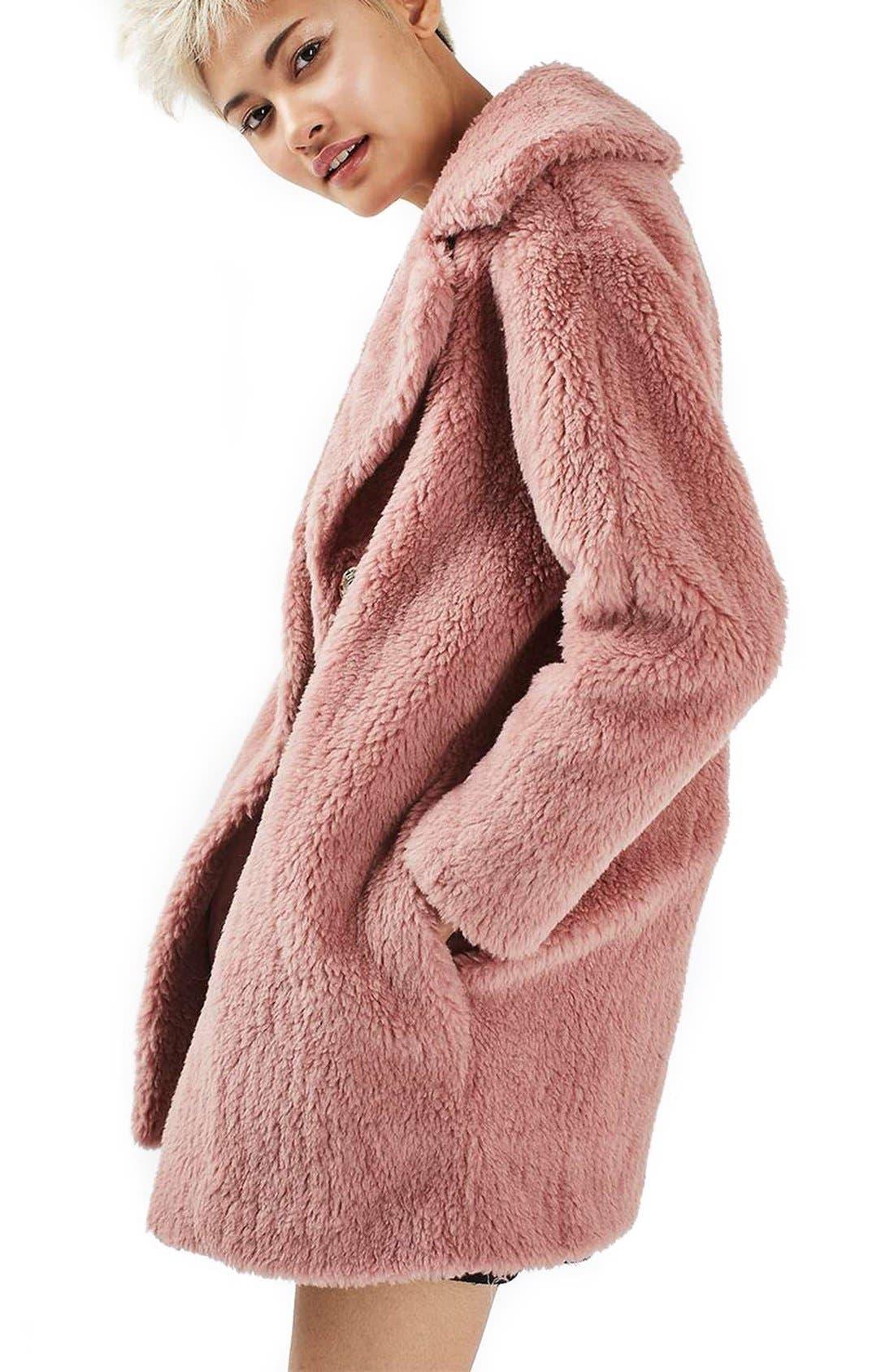 Alternate Image 4  - Topshop Faux Fur Coat