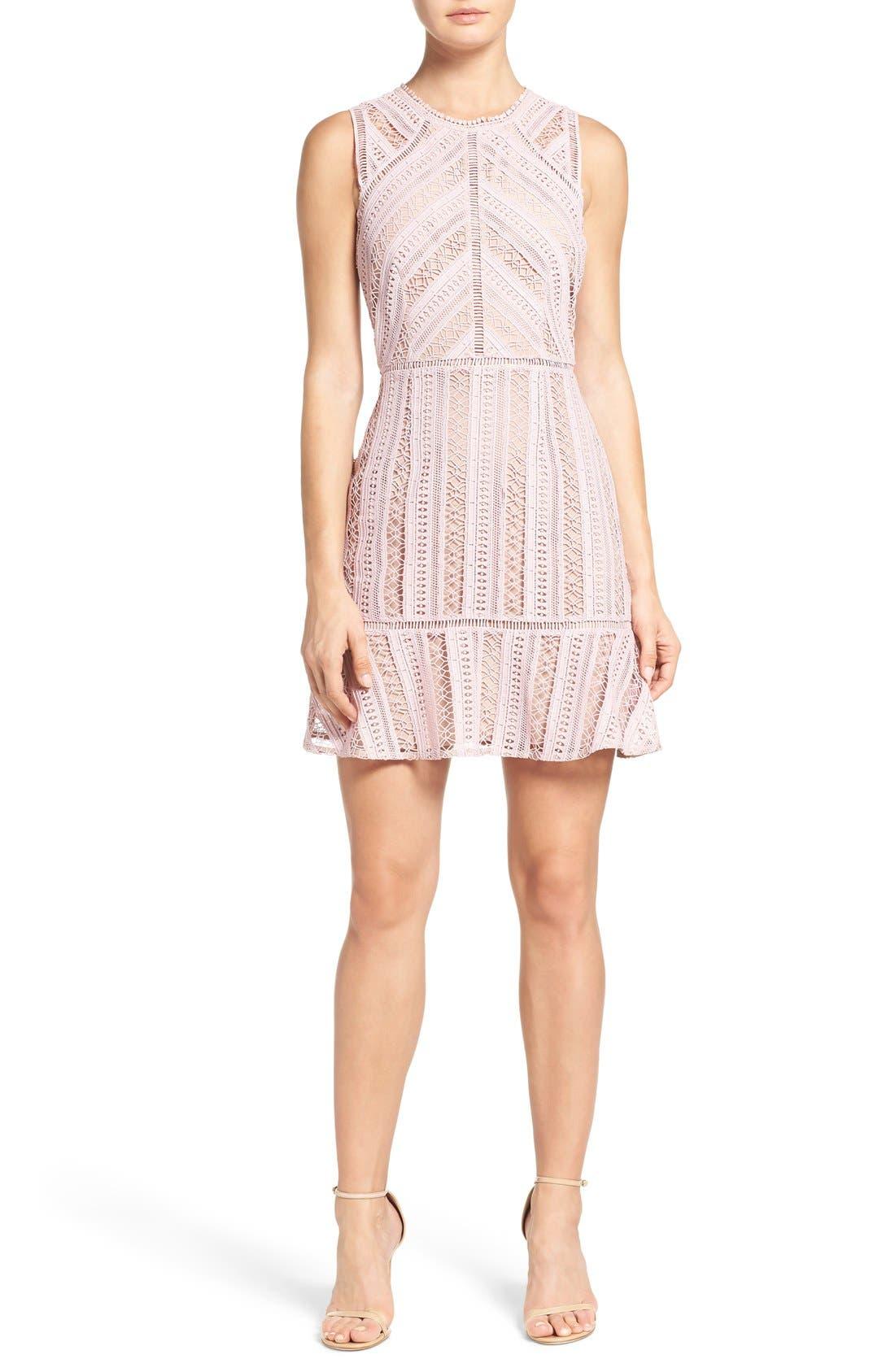 Alternate Image 3  - Greylin Lace Fit & Flare Dress