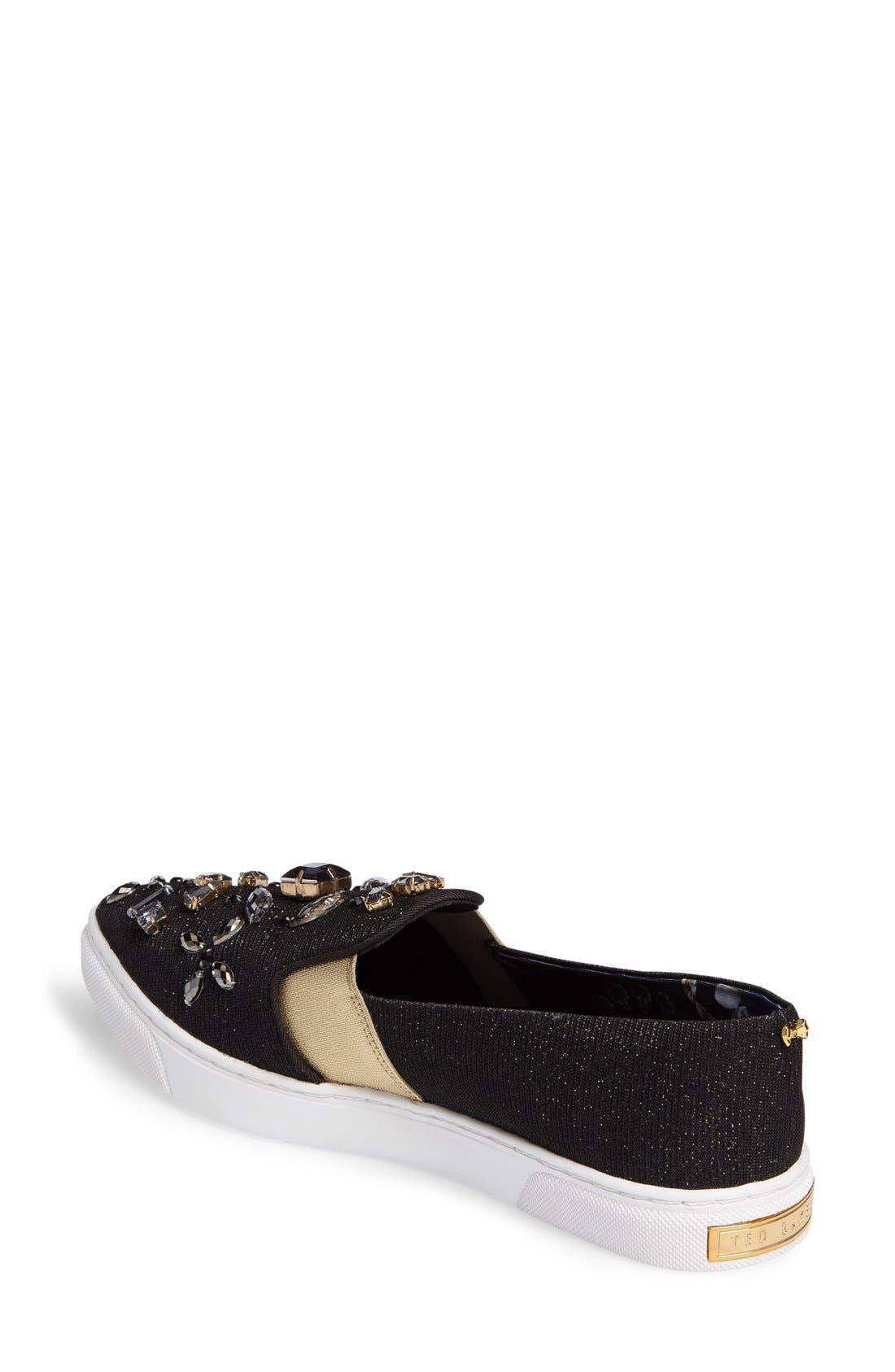Alternate Image 3  - Ted Baker London 'Thfia' Floral Pointy Toe Slip-On Sneaker (Women)