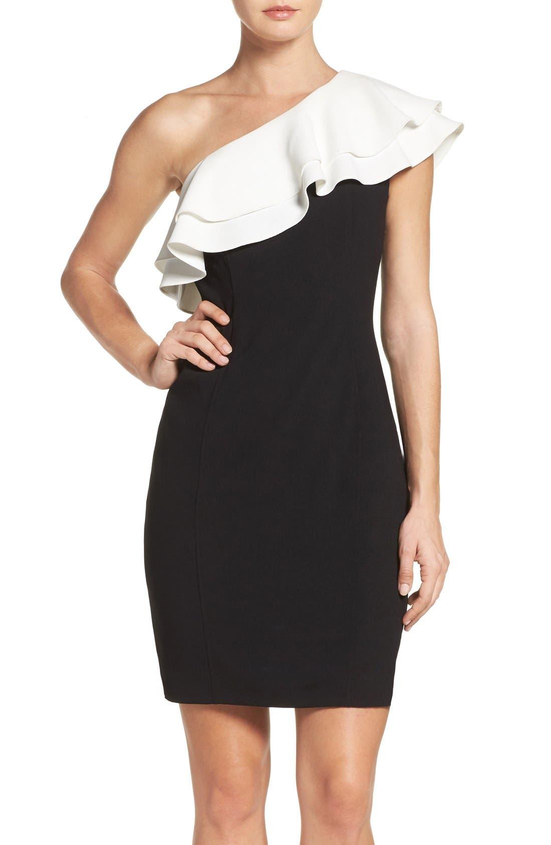 Alternate Image 1 Selected - Aidan by Aidan Mattox One-Shoulder Dress
