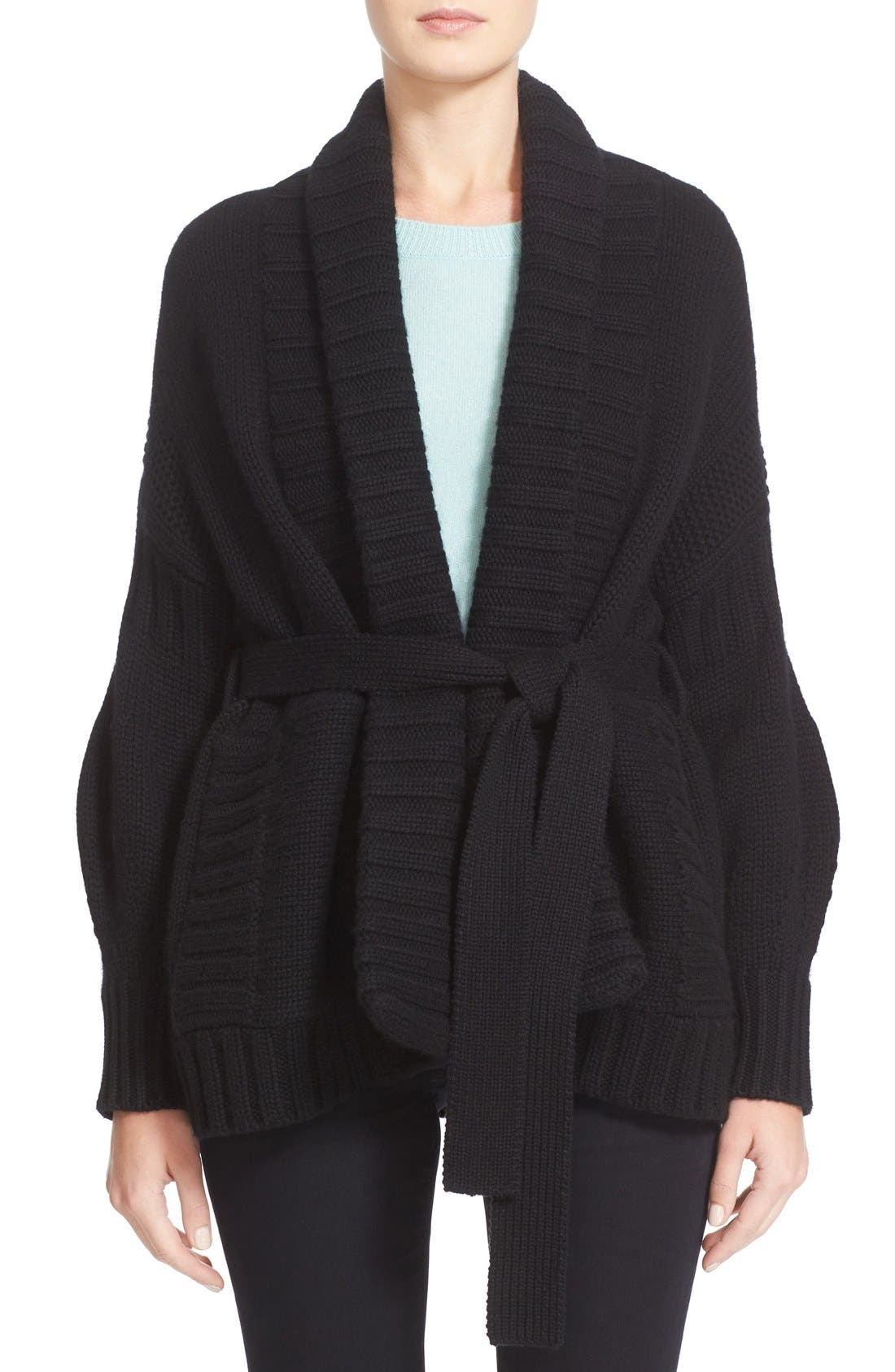 BURBERRY Annascoul Wool & Cashmere Wrap Cardigan