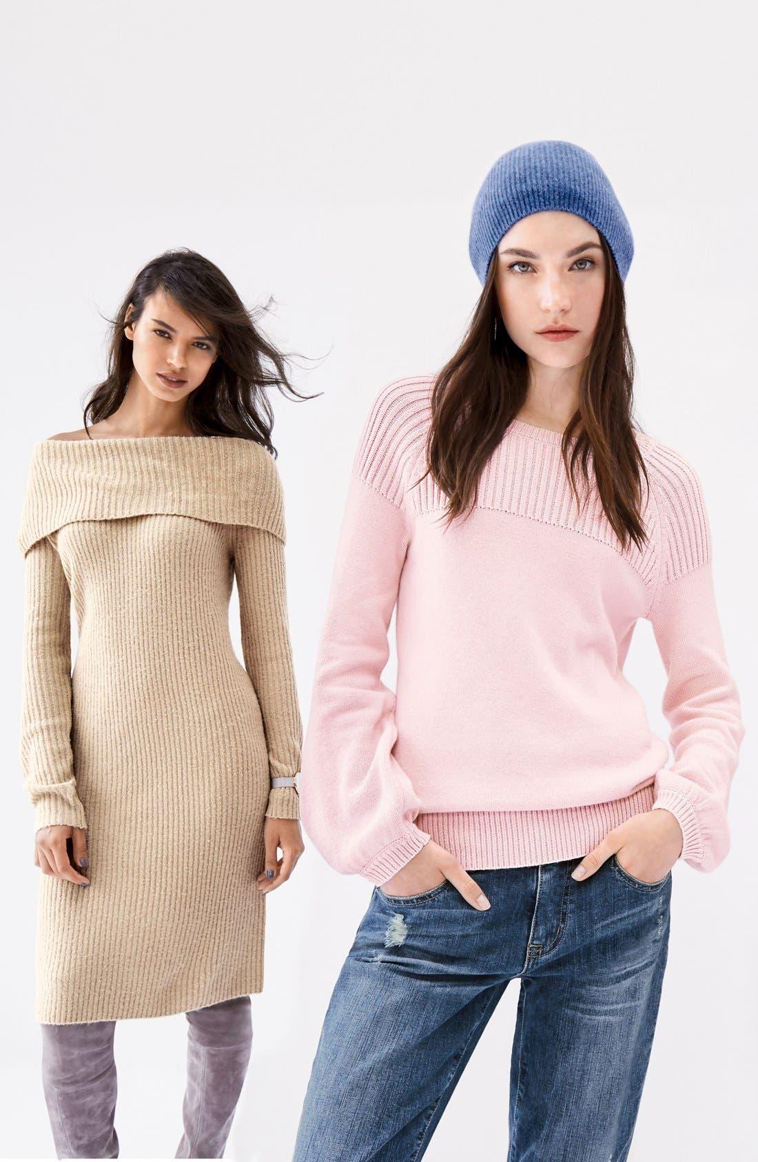 Alternate Image 2  - Halogen® Cowl Neck Sweater Dress (Regular & Petite)