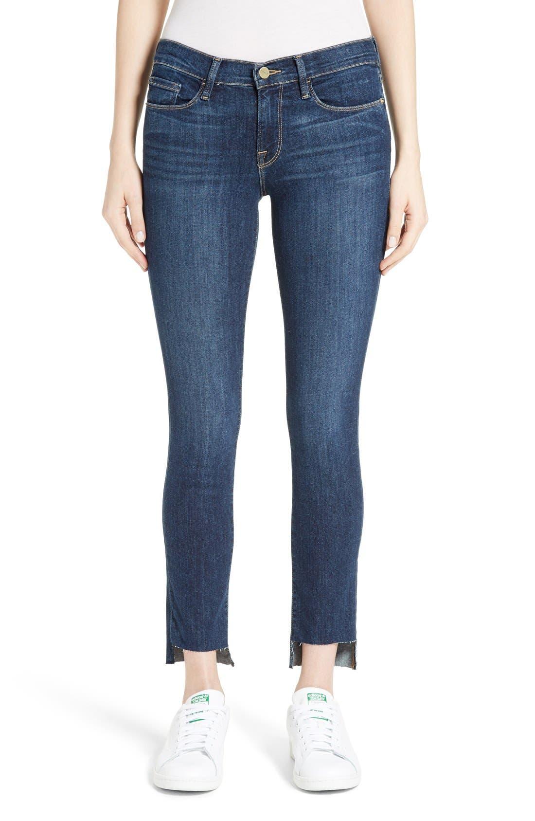 FRAME Le Skinny de Jeanne Step Hem Jeans