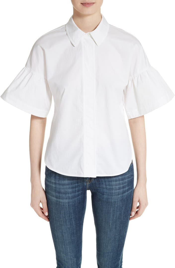 Burberry Tansy Bell Sleeve Shirt Nordstrom