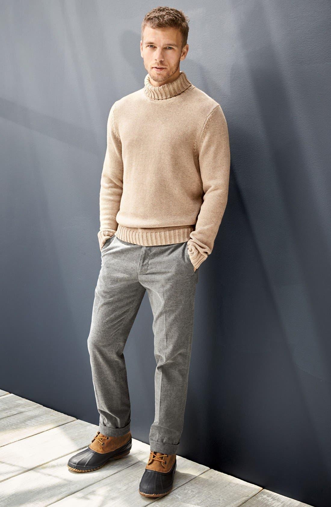 Alternate Image 7  - Nordstrom Men's Shop Chunky Turtleneck Sweater (Regular & Tall)
