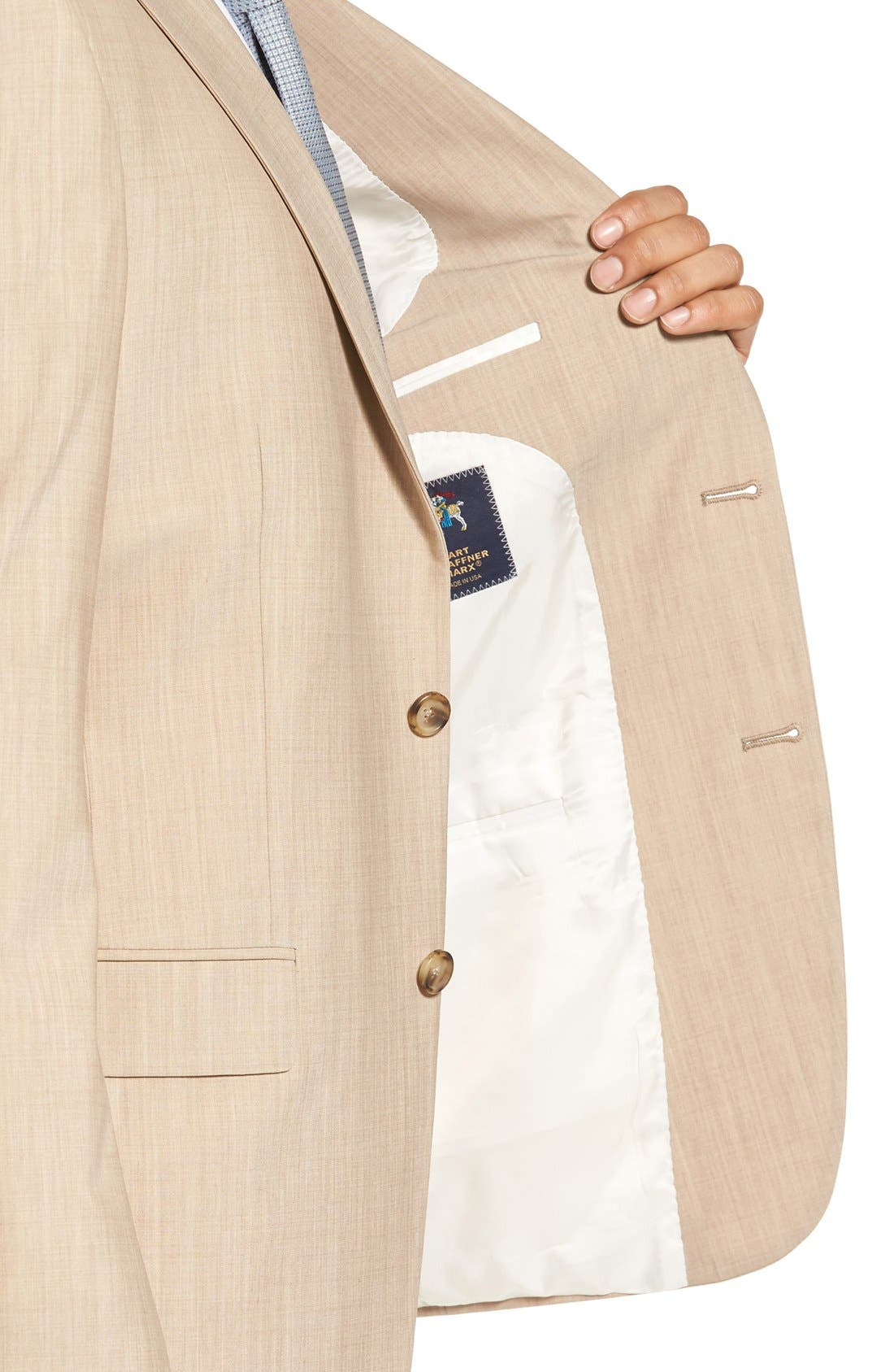 Alternate Image 5  - Hart Schaffner Marx New York Classic Fit Solid Stretch Wool Suit