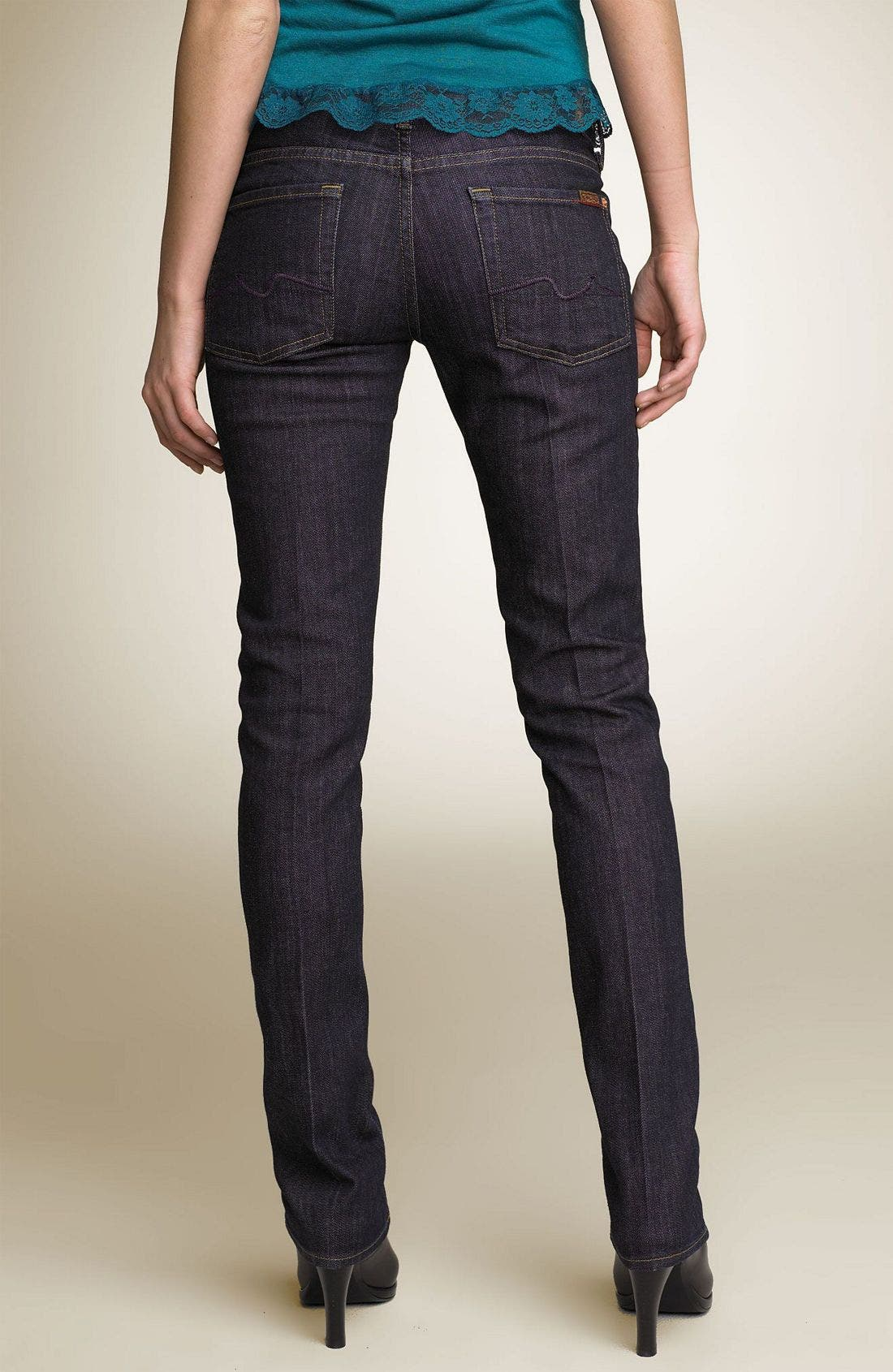 Alternate Image 1 Selected - 7 For All Mankind® 'Roxanne' Skinny Stretch Jeans (Mercer Wash)