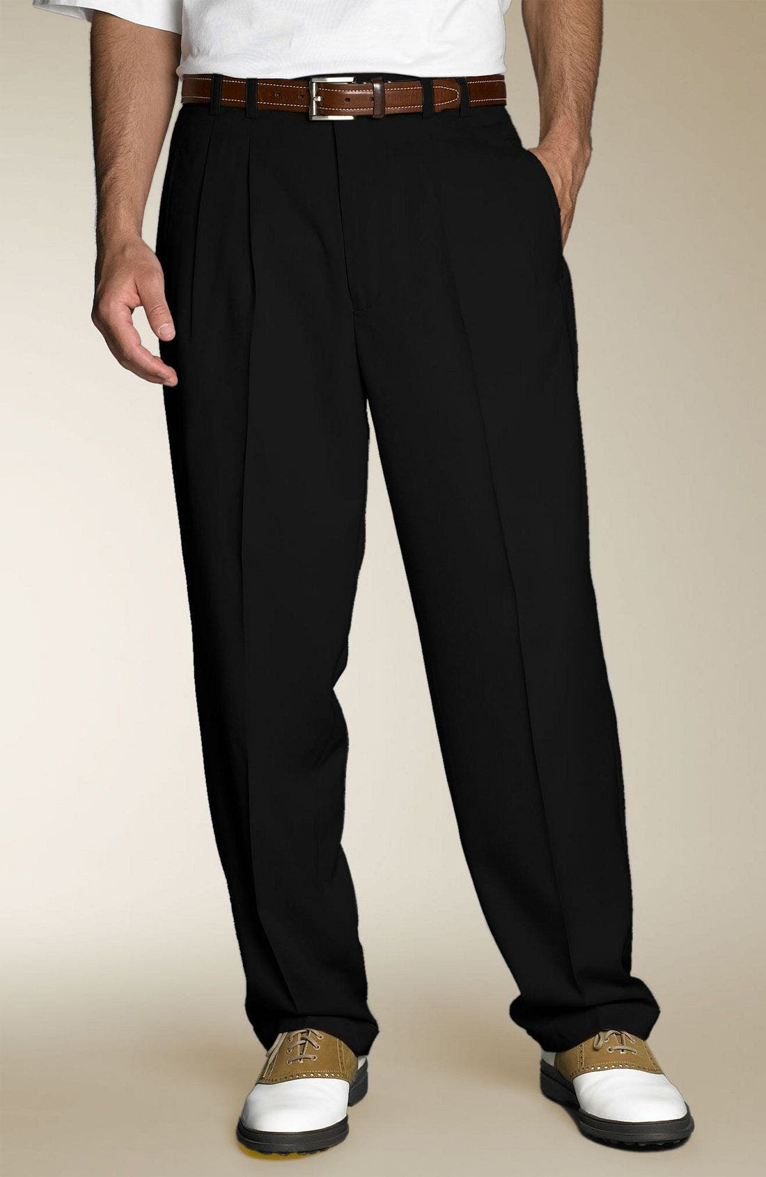 Alternate Image 1 Selected - Cutter & Buck Gabardine Microfiber Cuff Golf Trousers