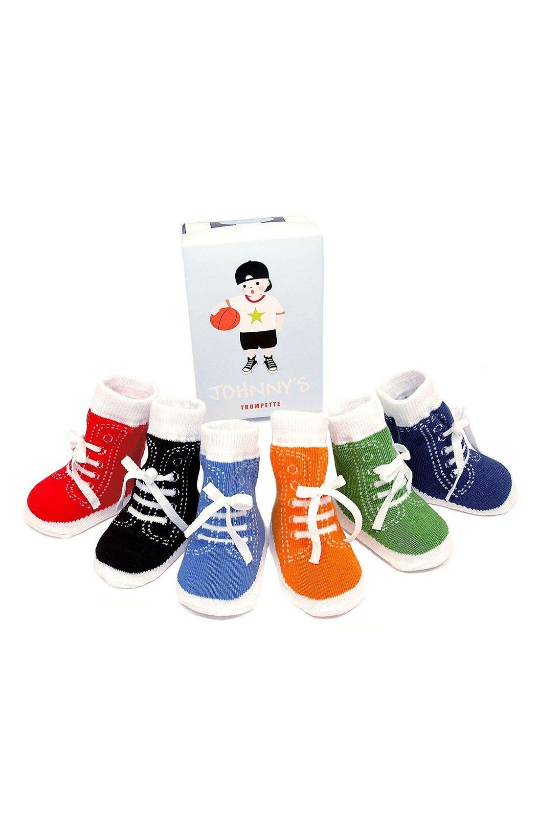 Main Image - Trumpette 'Johnny' Socks Gift Set (Baby Boys)