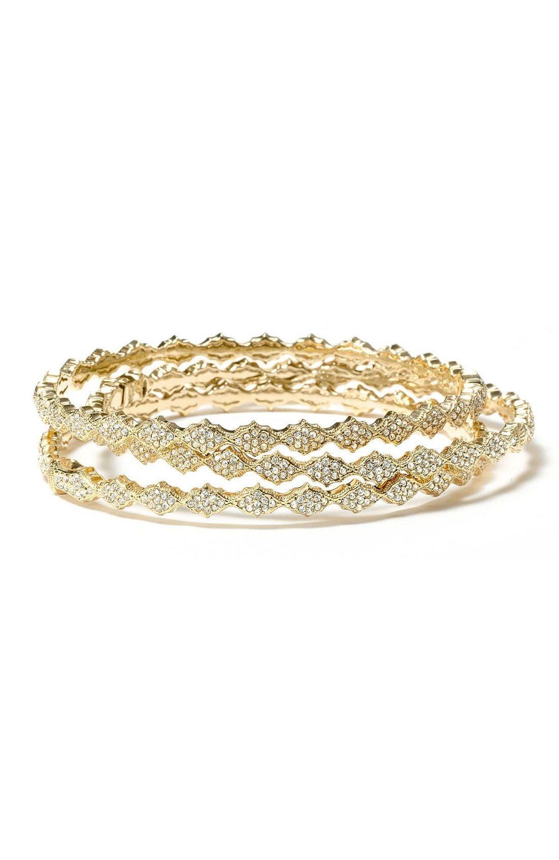 Main Image - Nadri Crystal Filigree Bangle Bracelet