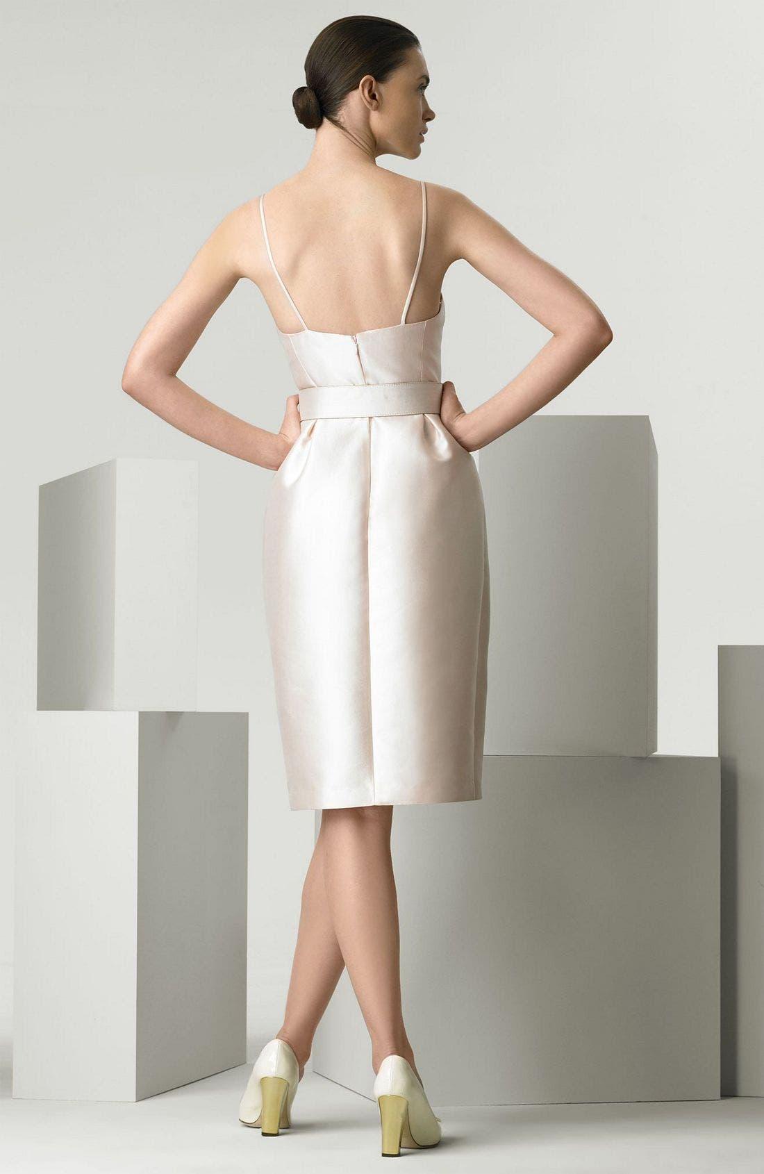 Alternate Image 2  - Michael Kors Wool & Silk Mikado Cocktail Dress