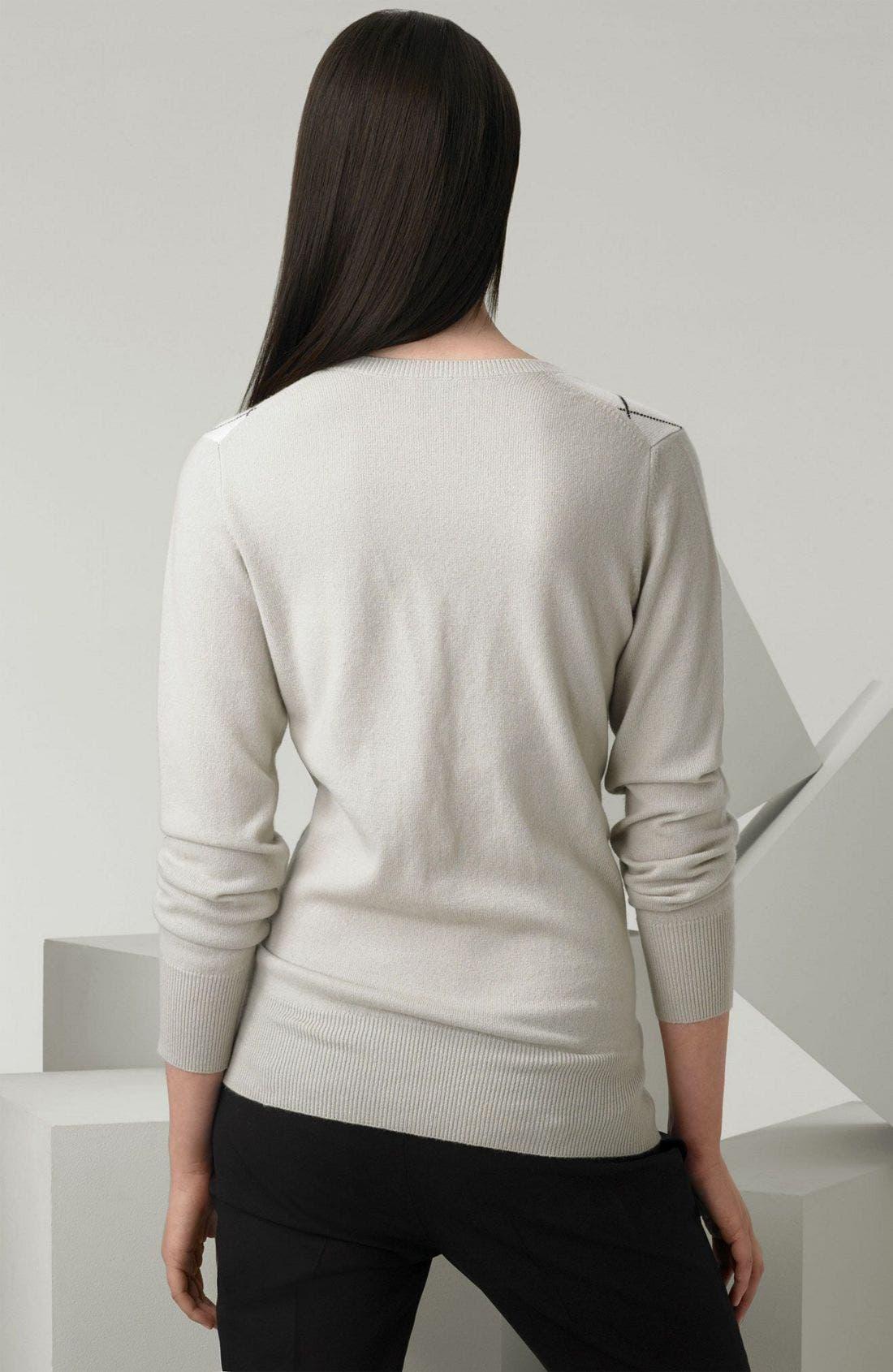 Alternate Image 2  - Burberry Argyle Cashmere Sweater