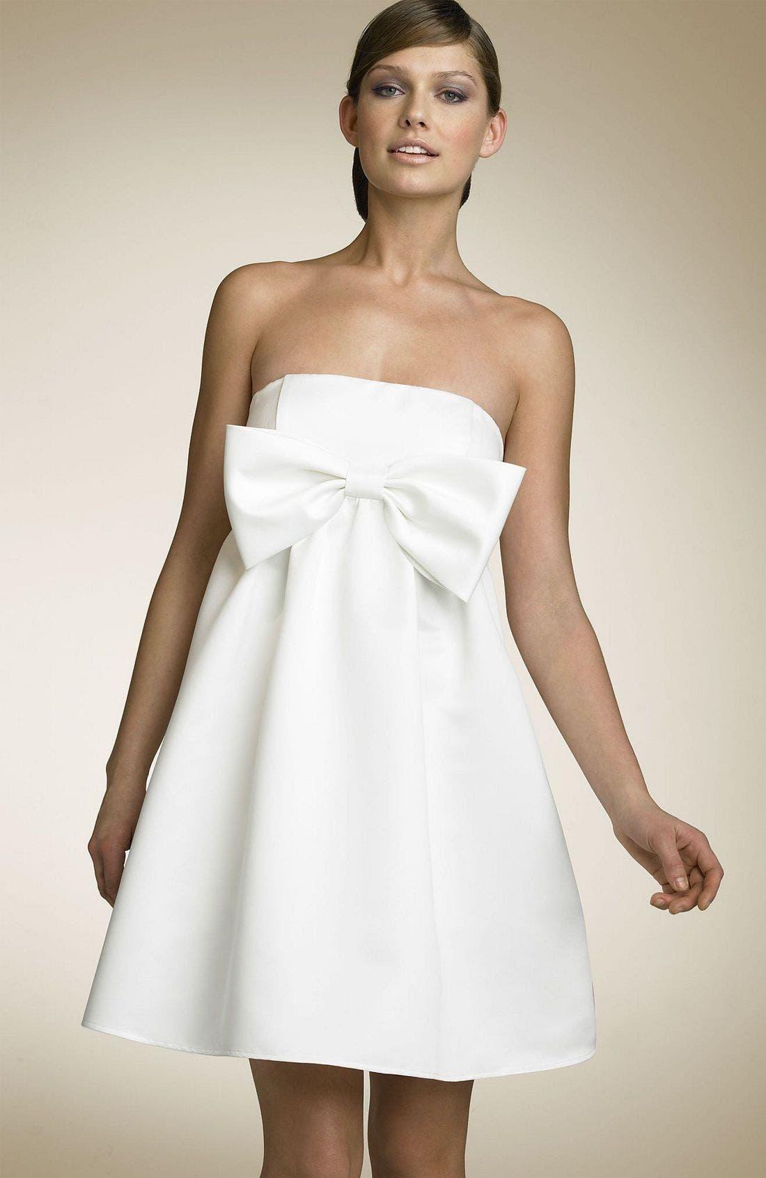 Alternate Image 1 Selected - As U Wish Bow Dress (Juniors)