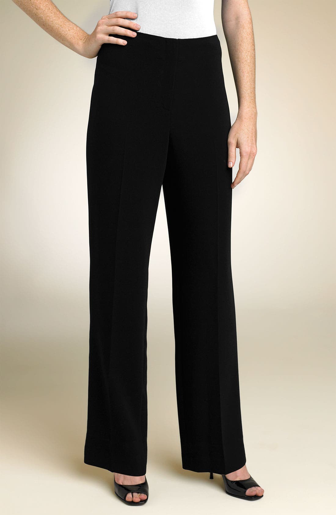 Alternate Image 1 Selected - Louben Straight Leg Trousers (Petite)
